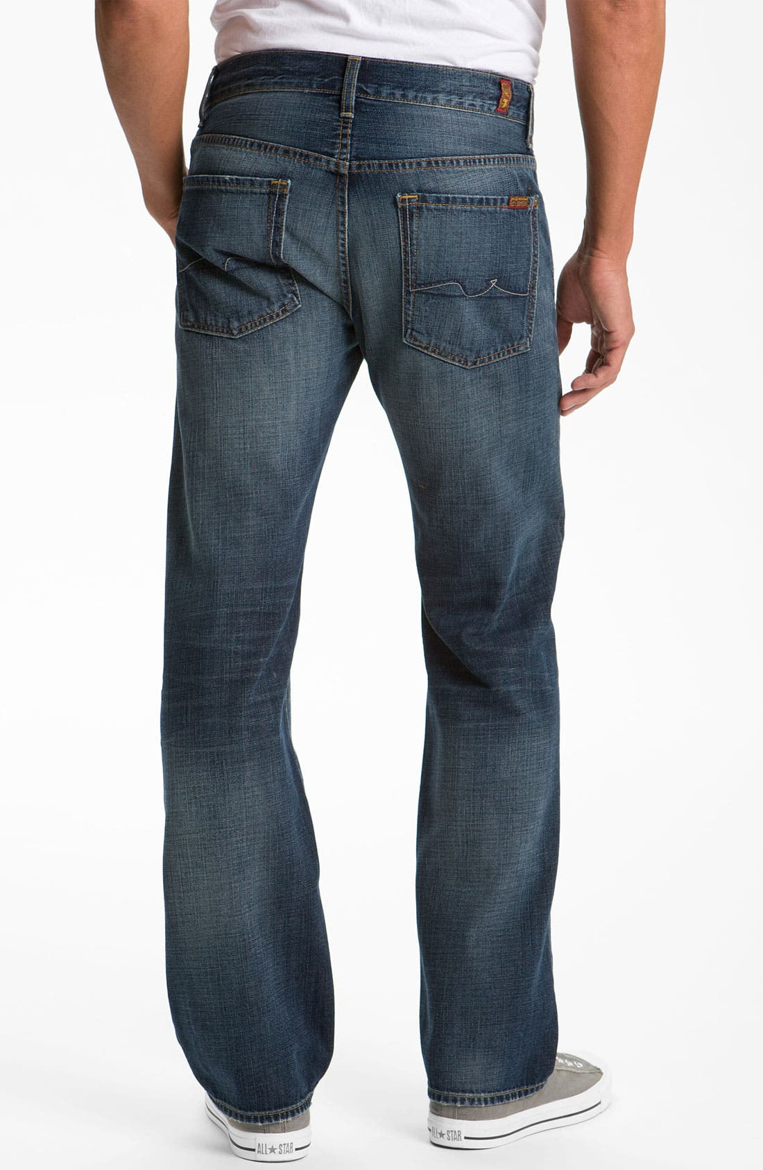 Alternate Image 1 Selected - 7 For All Mankind® 'Austyn' Relaxed Straight Leg Jeans (California Dusk)