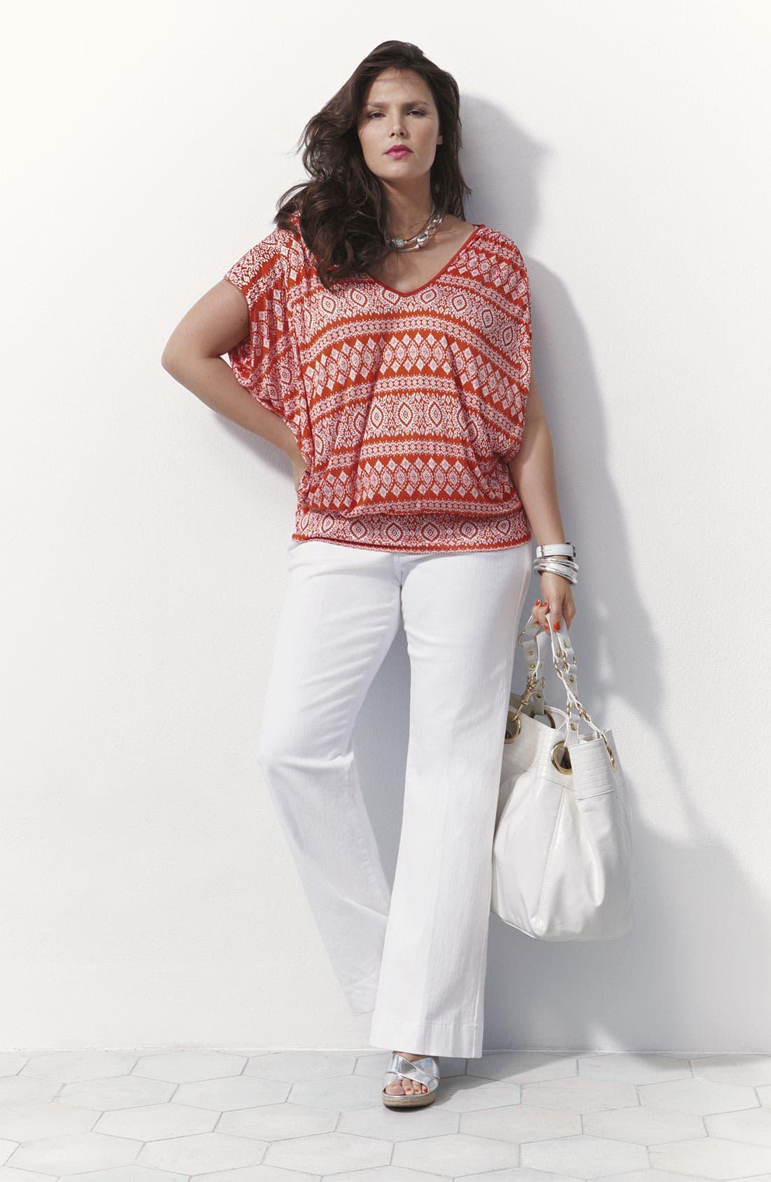 Alternate Image 4  - NYDJ 'Michelle' Trousers (Plus)