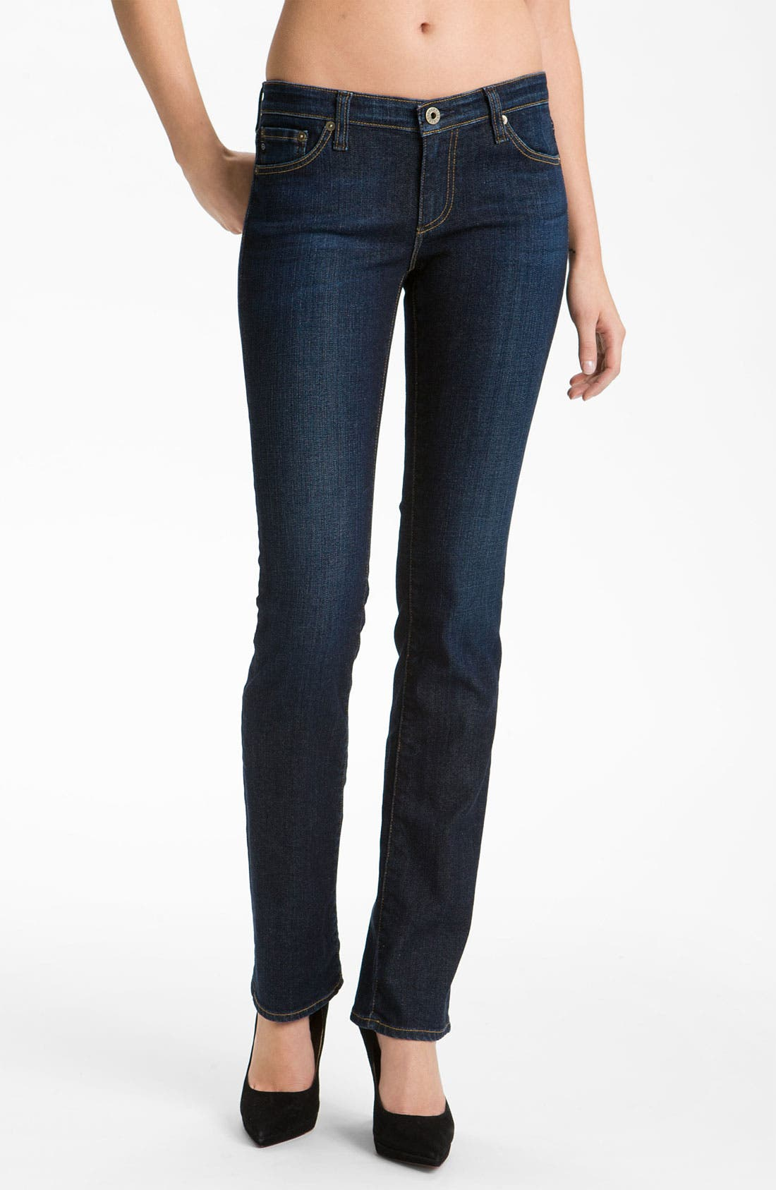 Alternate Image 1 Selected - AG Jeans 'Ballad' Slim Bootcut Jeans (Hope)