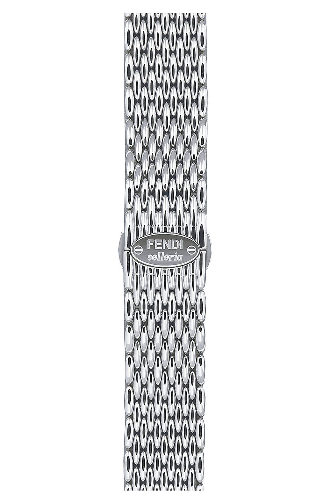 Alternate Image 1 Selected - Fendi 'Selleria' 18mm Stainless Steel Bracelet Watchband