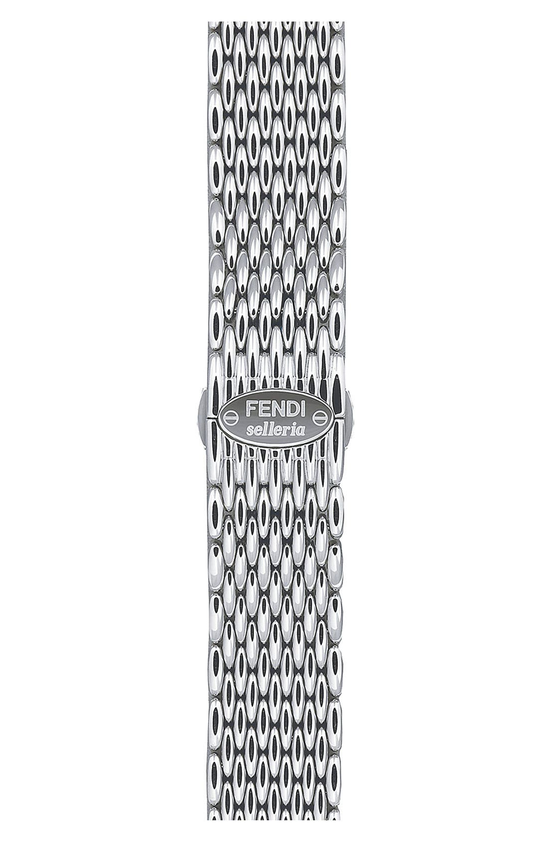 Main Image - Fendi 'Selleria' 18mm Stainless Steel Bracelet Watchband