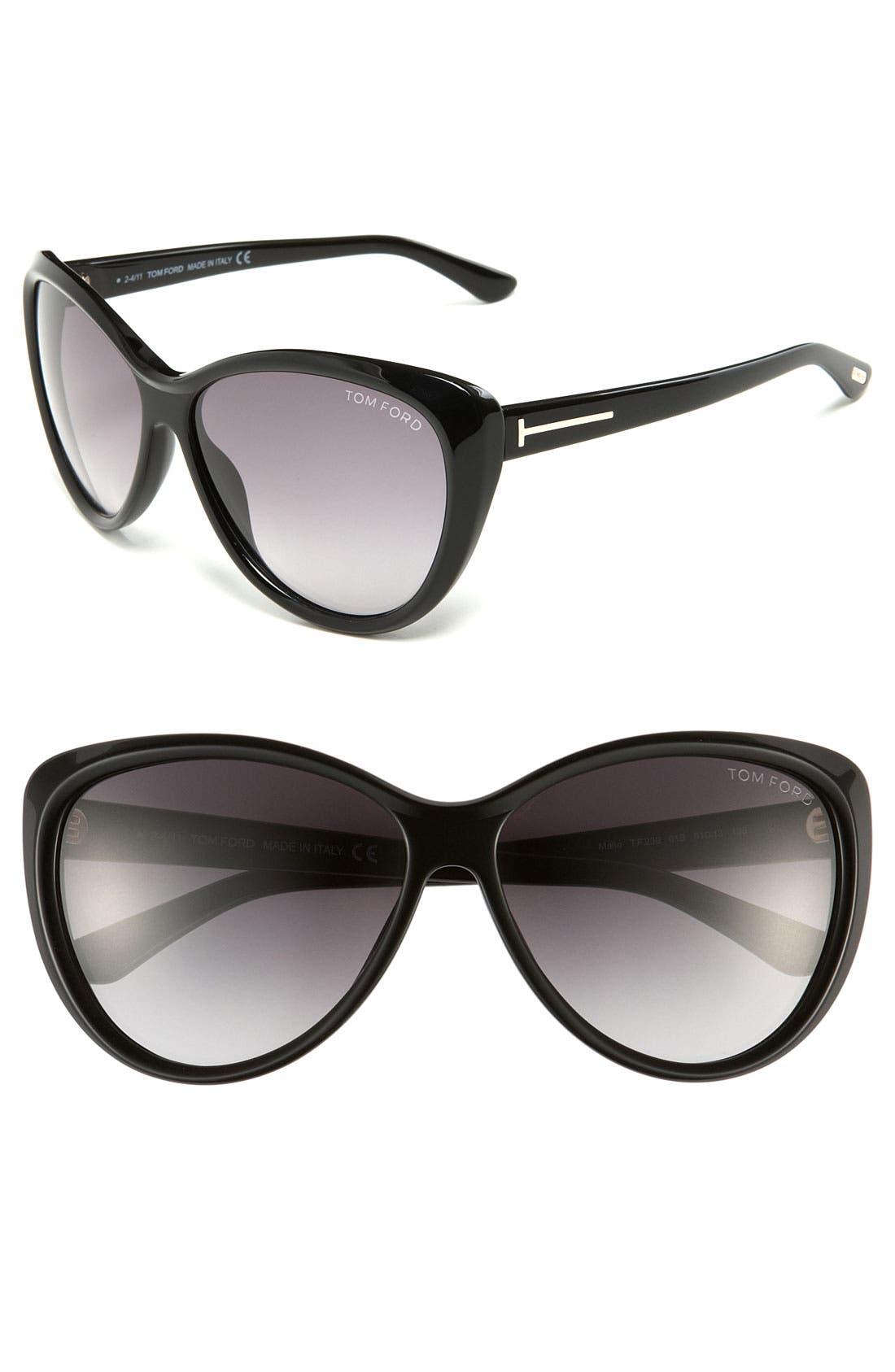 Alternate Image 1 Selected - Tom Ford 61mm Cat Eye Sunglasses
