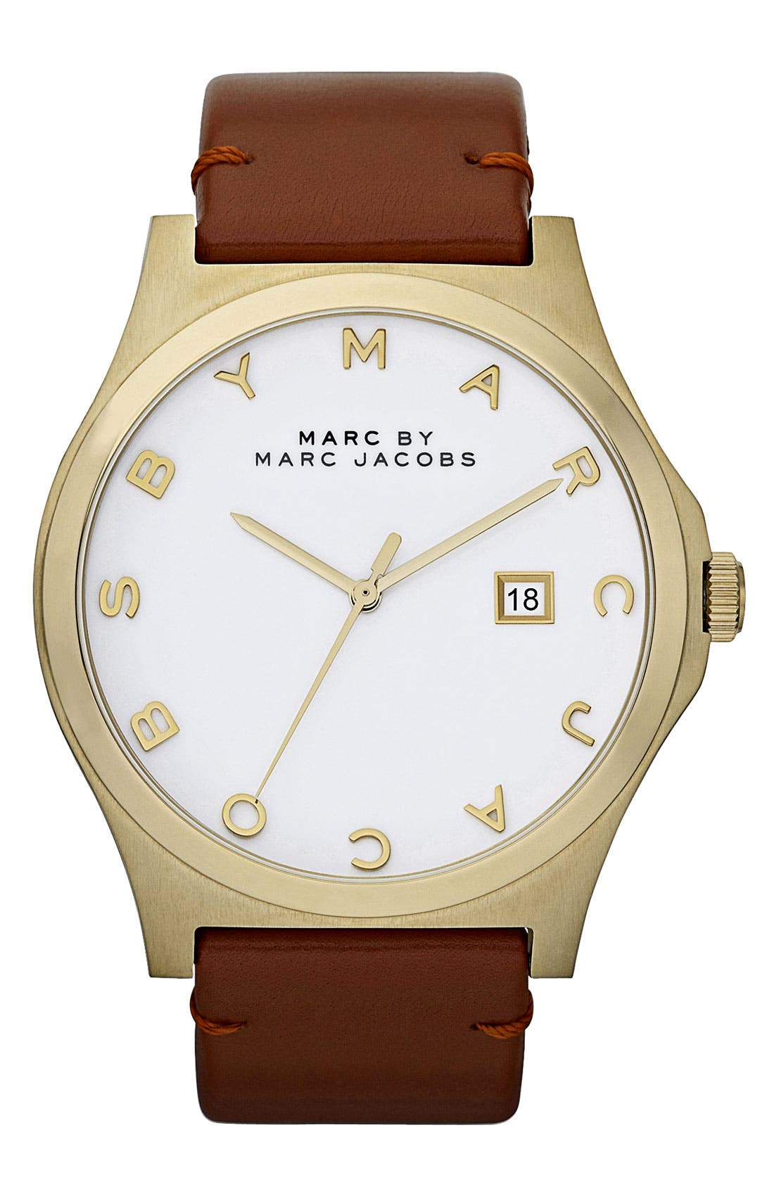 Alternate Image 1 Selected - MARC JACOBS 'Henry' Leather Strap Watch