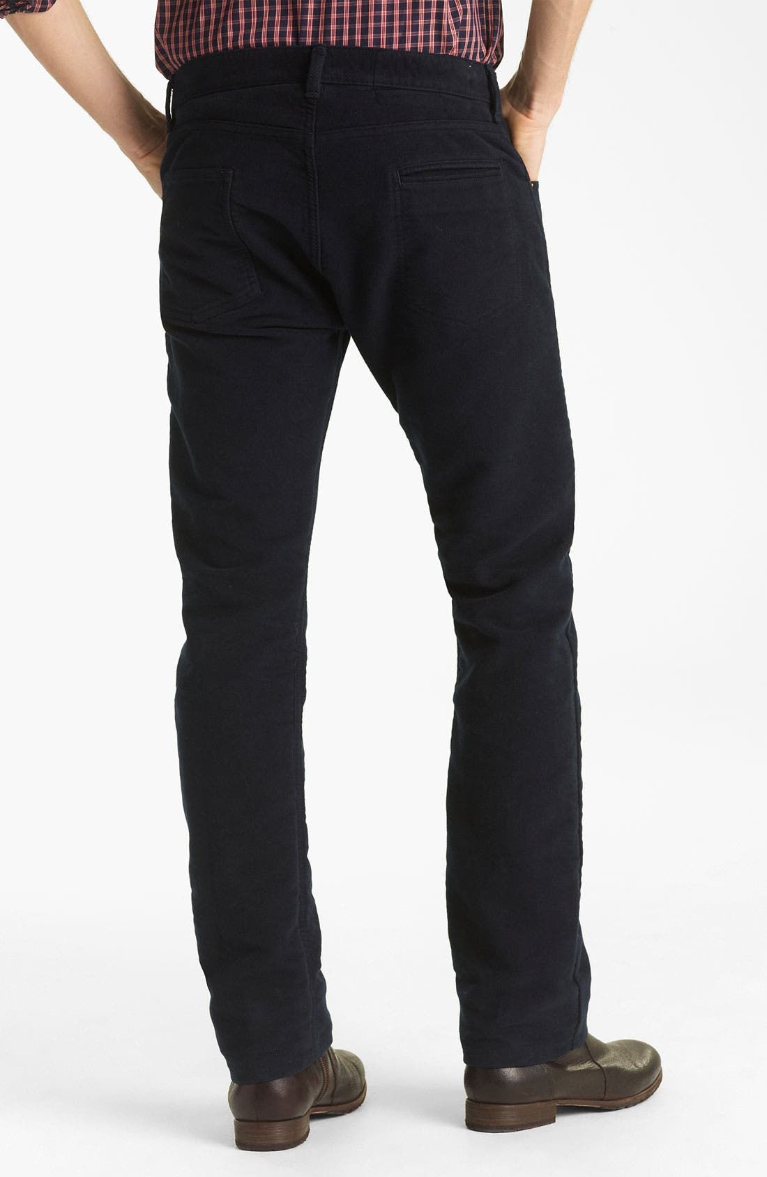 Alternate Image 1 Selected - Billy Reid Straight Leg Jeans (Navy)