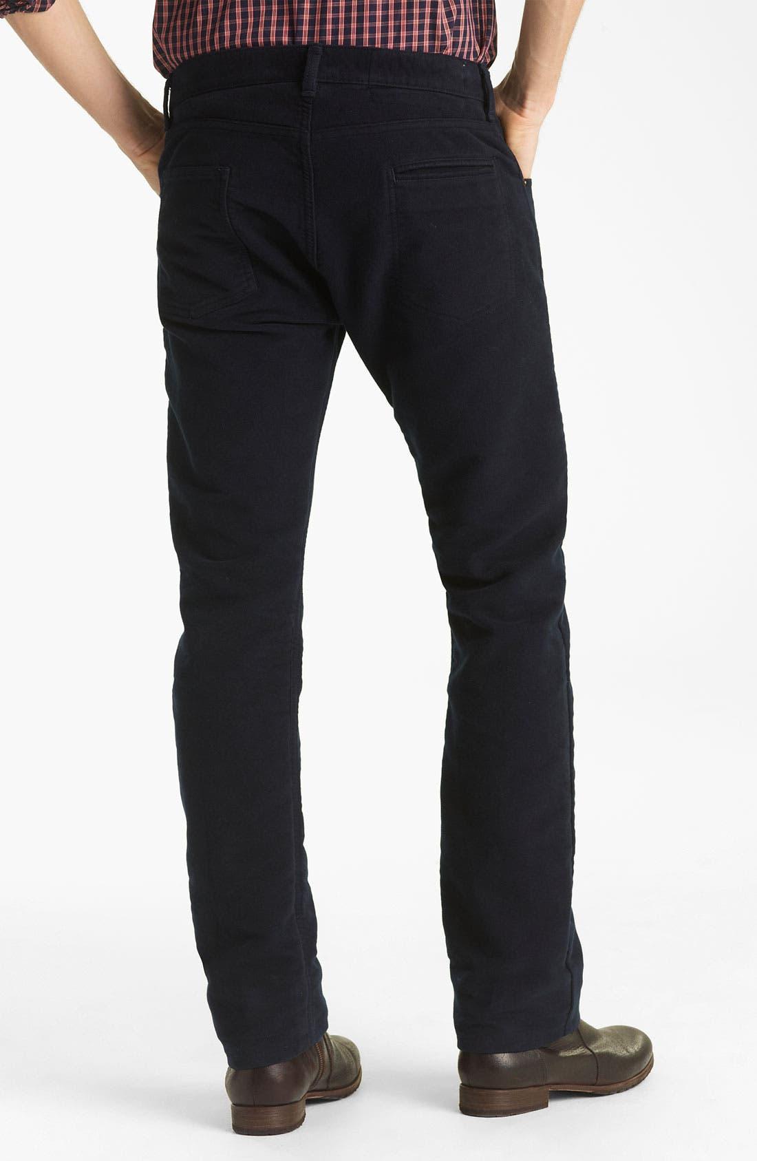 Main Image - Billy Reid Straight Leg Jeans (Navy)