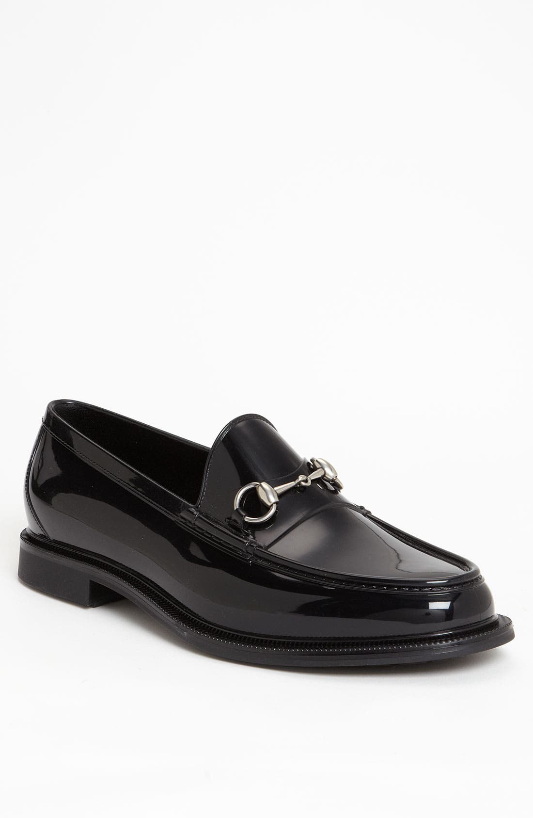 Alternate Image 1 Selected - Gucci 'Dark Rubber' Loafer