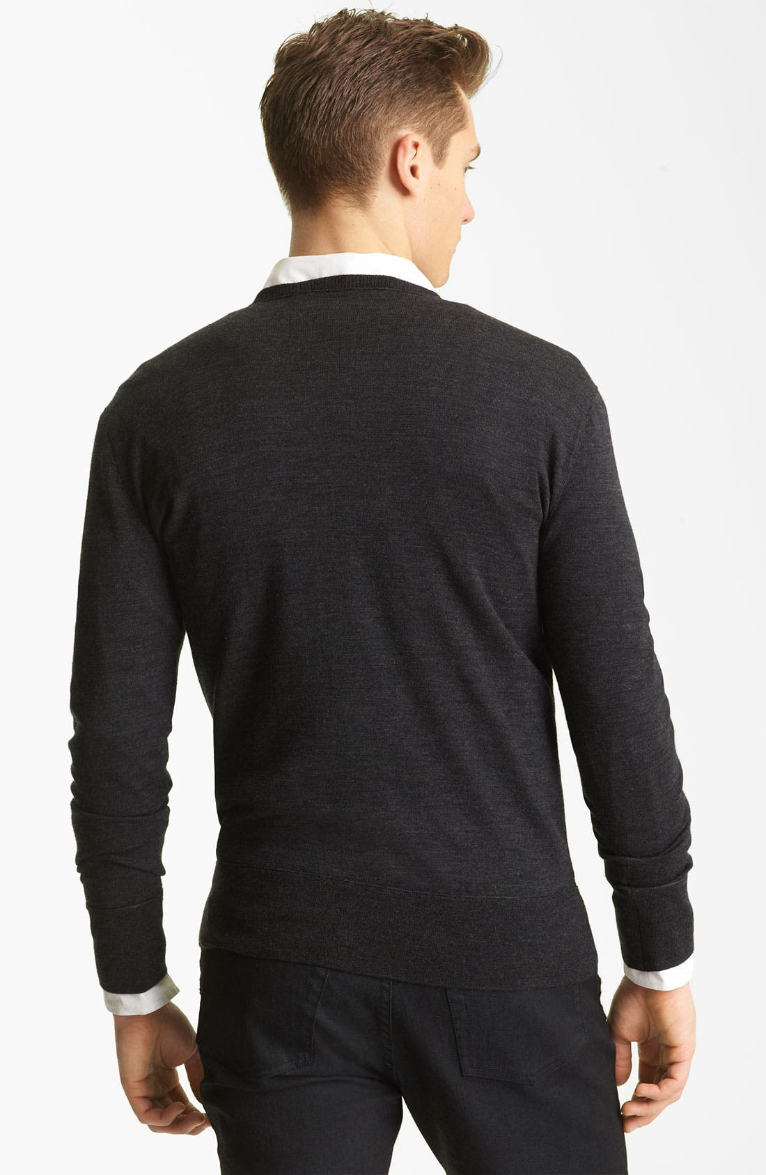 Alternate Image 2  - John Varvatos Collection V-Neck Wool Knit Sweater