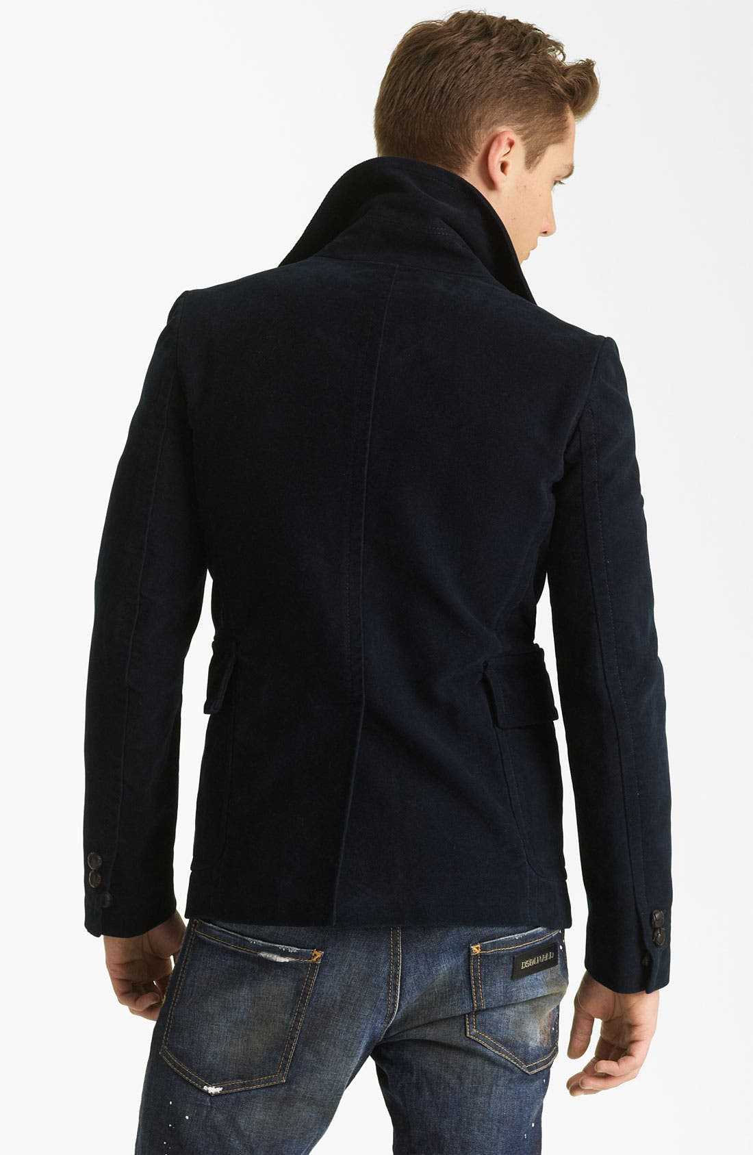 Alternate Image 2  - Dsquared2 'Dean' Double Breasted Peacoat