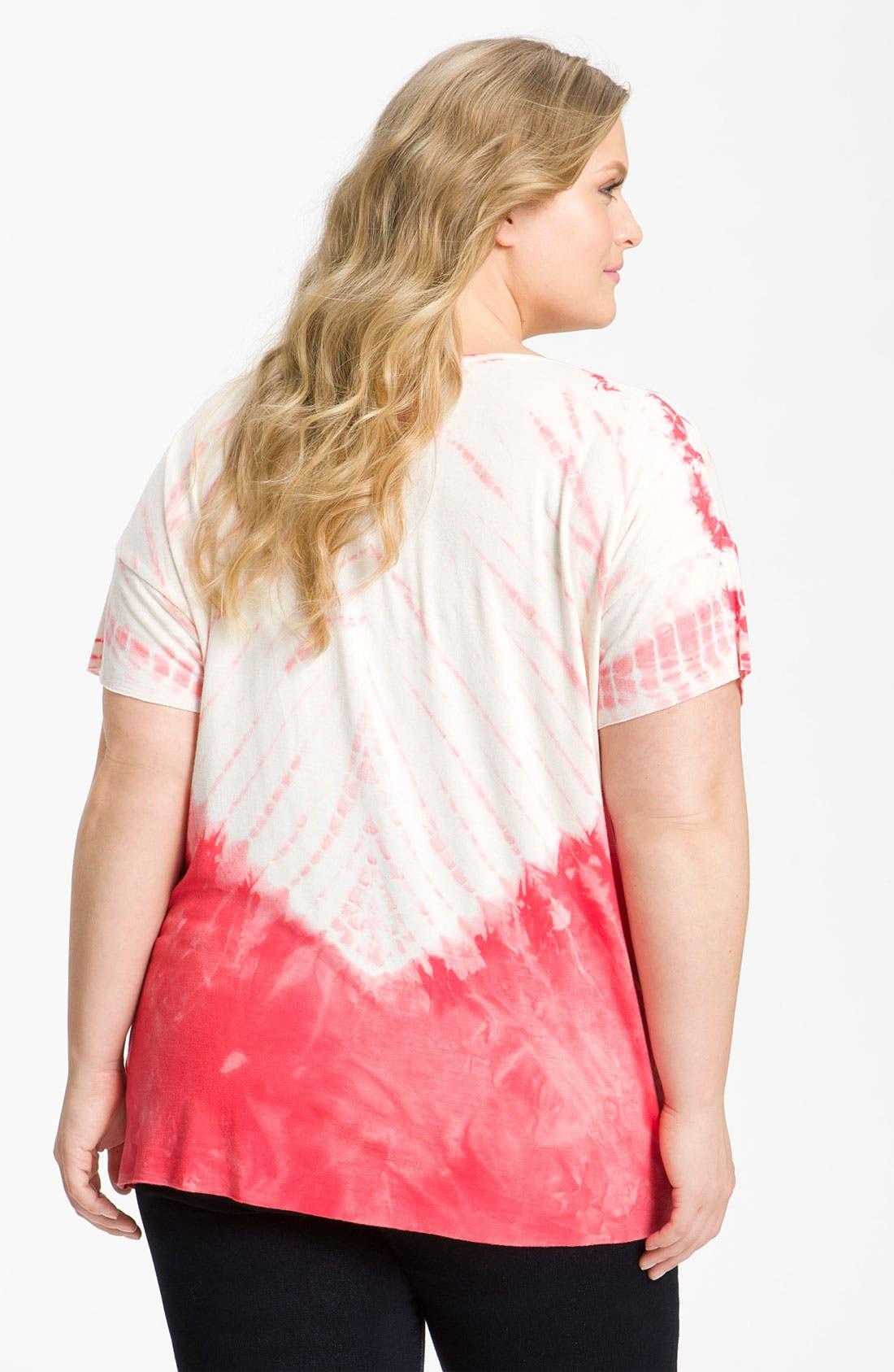 Alternate Image 2  - XCVI Wearables Oversized Tie Dye Tee (Plus)