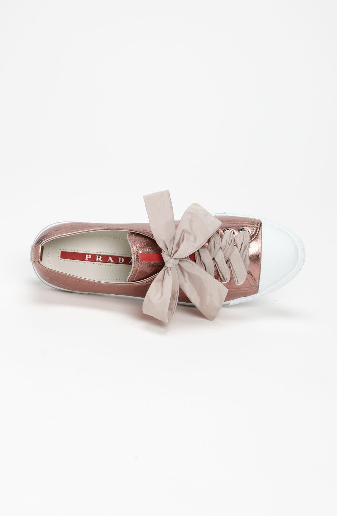 Alternate Image 3  - Prada Metallic Sneaker