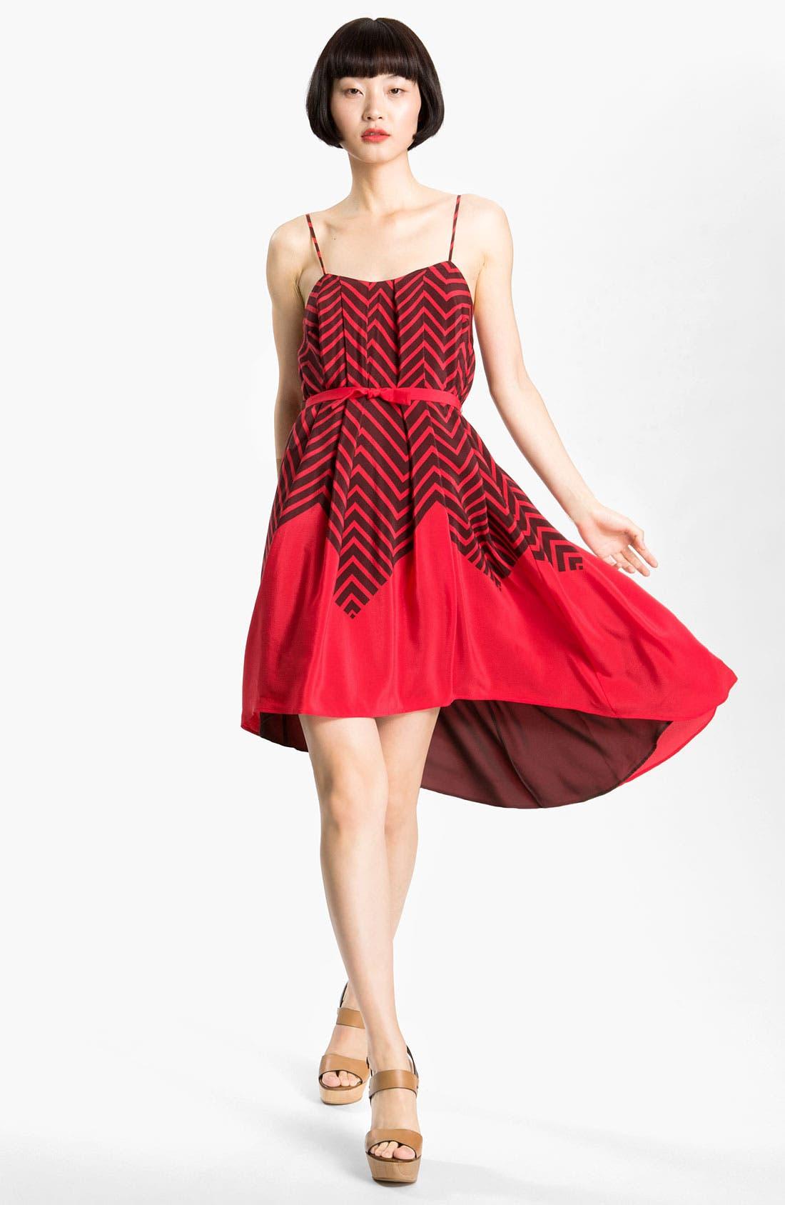 Main Image - French Connection 'Ziggy' Print Silk Dress