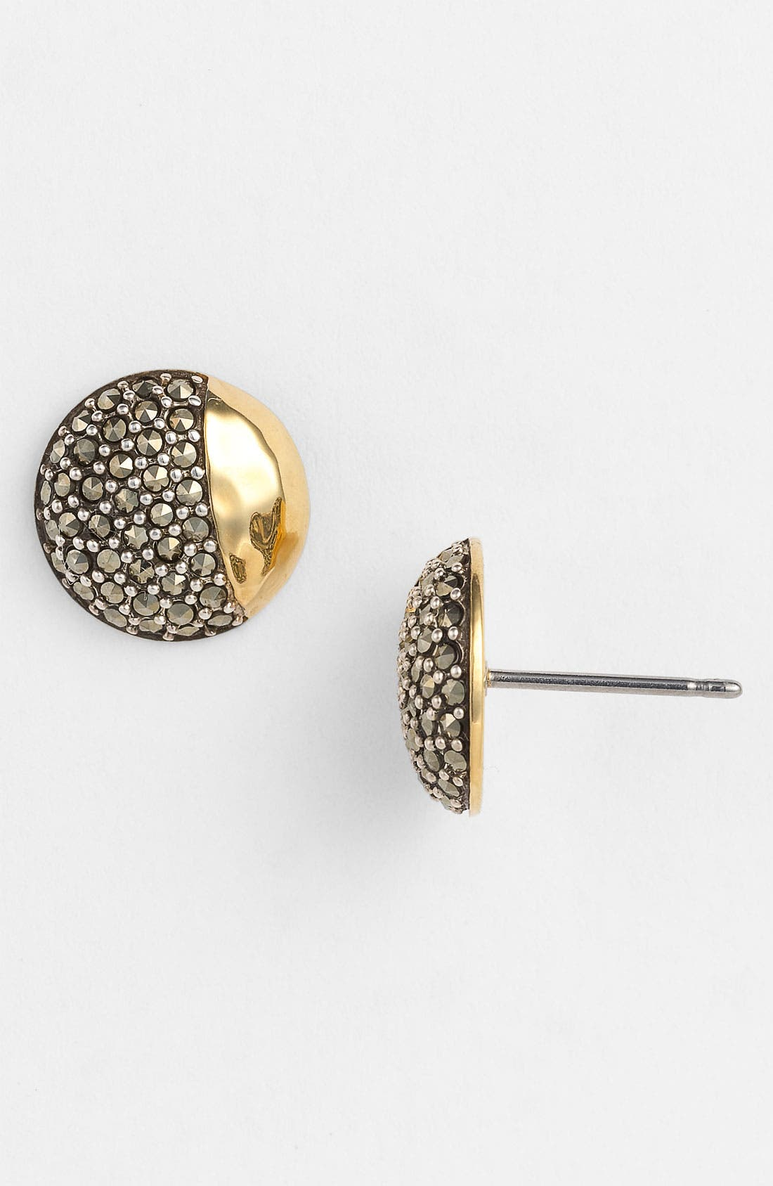 Alternate Image 1 Selected - Judith Jack 'Gold Sea' Button Stud Earrings