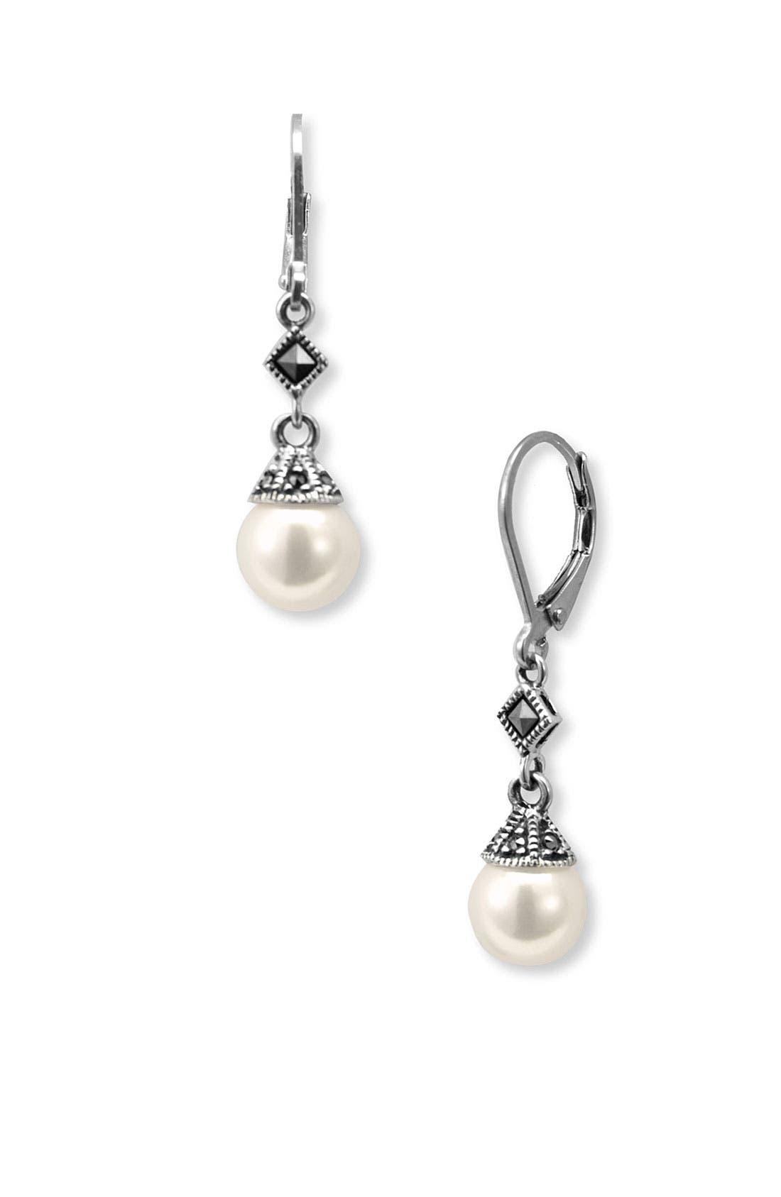 Alternate Image 1 Selected - Judith Jack Imitation Pearl Drop Earrings