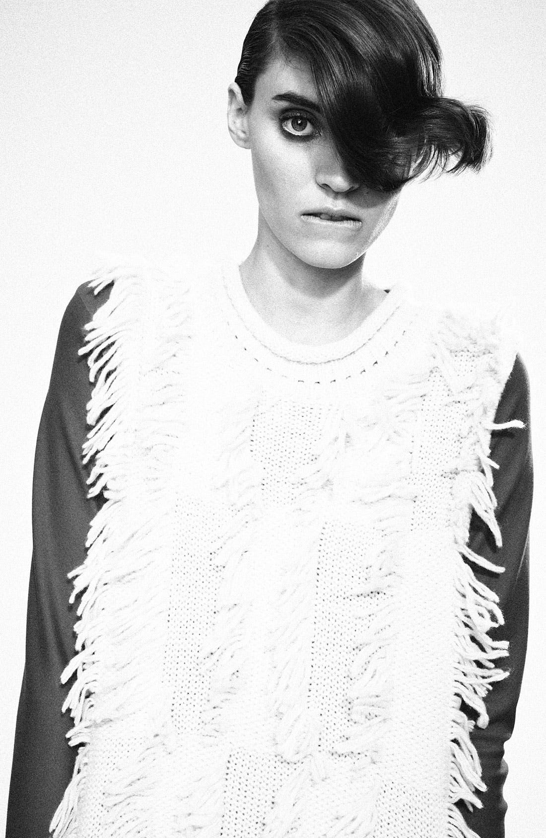 Alternate Image 4  - 3.1 Phillip Lim Fringe Intarsia Tunic Sweater