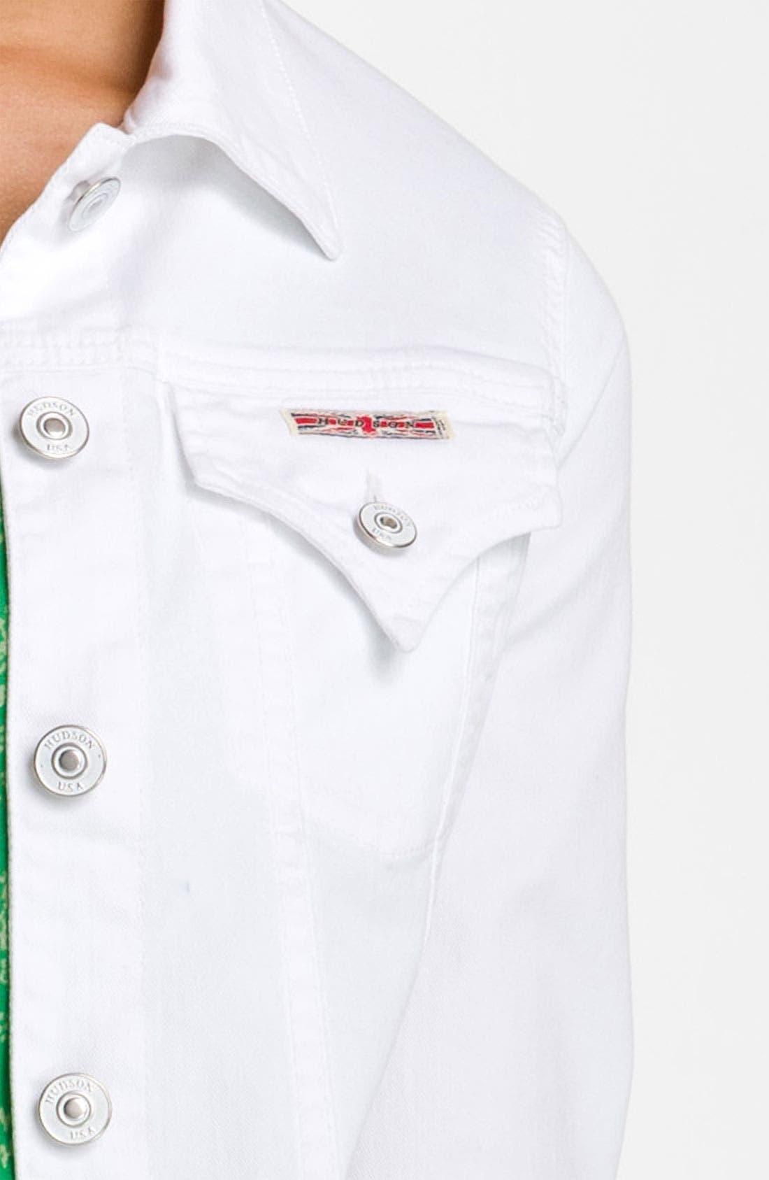 Alternate Image 3  - Hudson Jeans Denim Jacket (White)