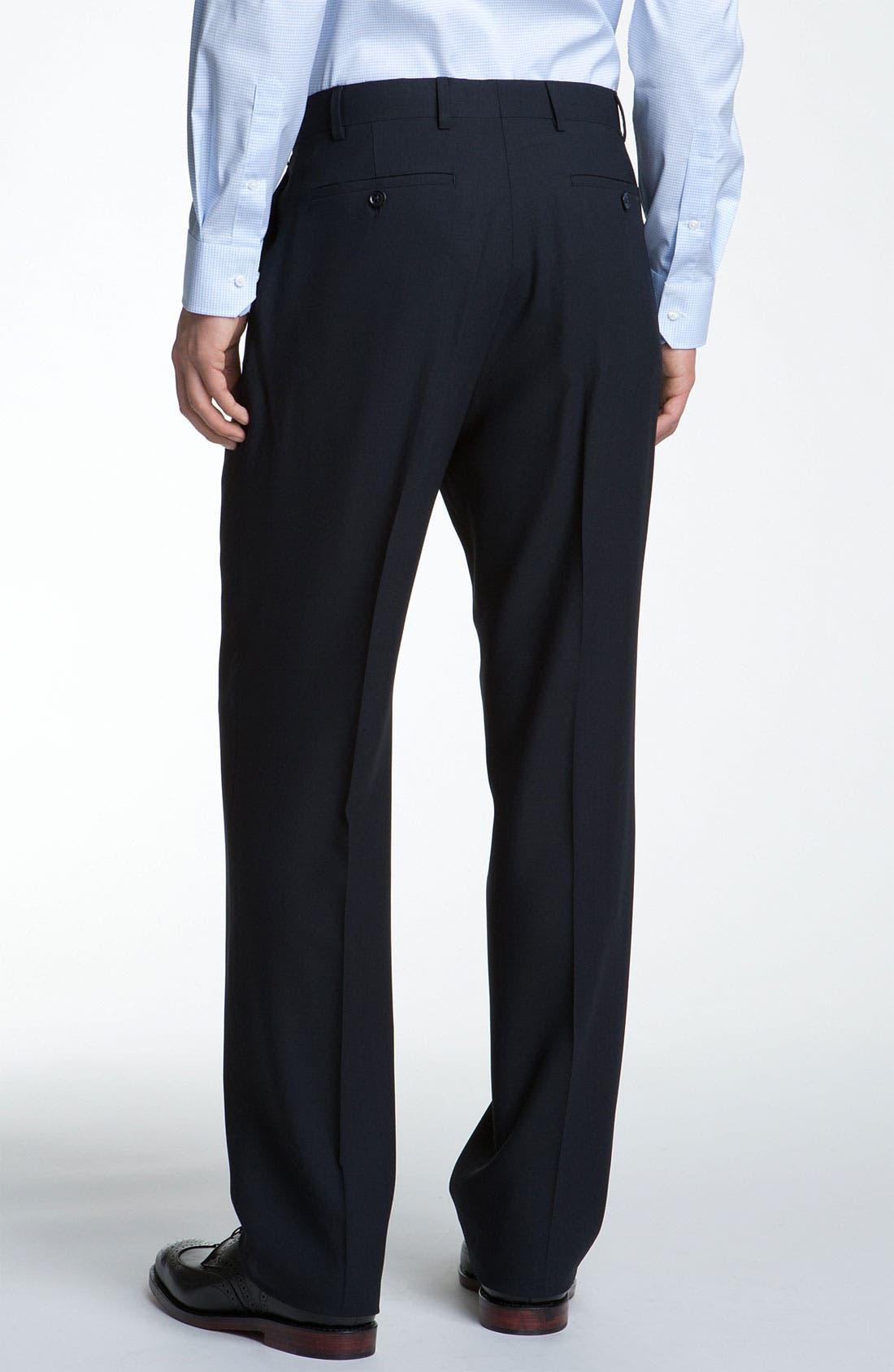Alternate Image 5  - Armani Collezioni Trim Fit Wool Suit