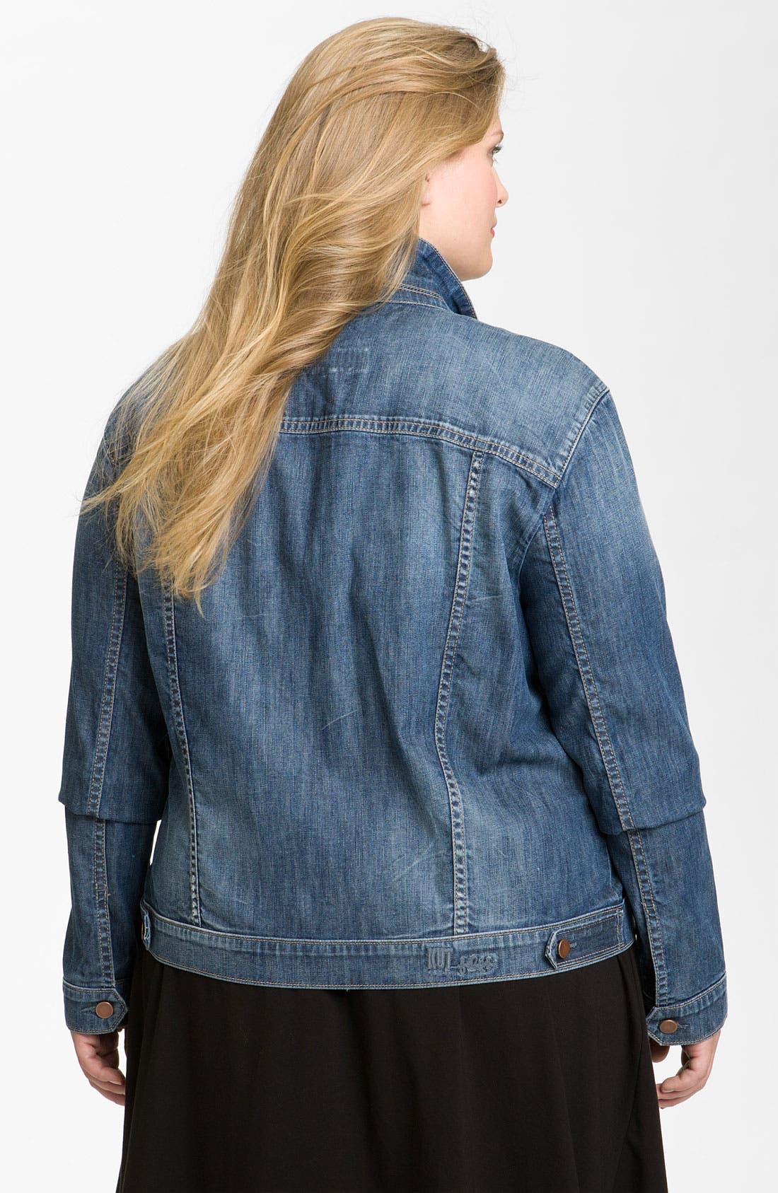 Alternate Image 2  - KUT from the Kloth Denim Jacket (Plus)
