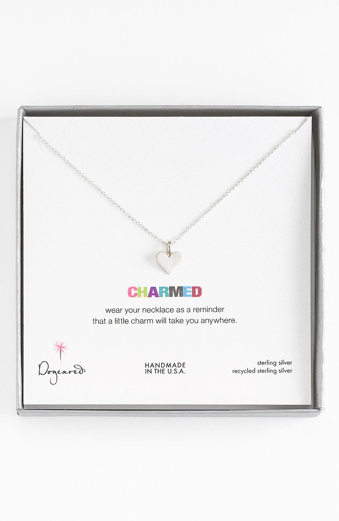 Main Image - Dogeared 'Charmed - Heart' Pendant Necklace