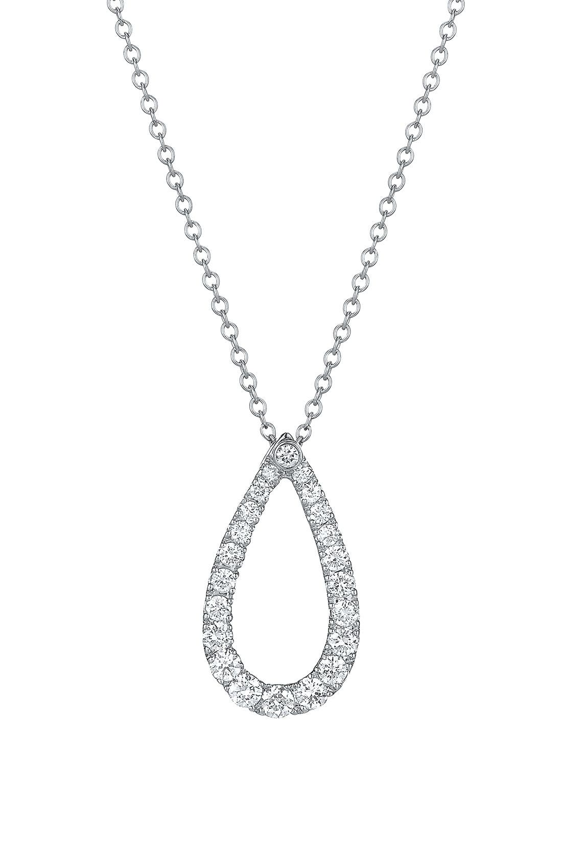 Alternate Image 1 Selected - Kwiat 'Contorno' Teardrop Diamond Pendant Necklace