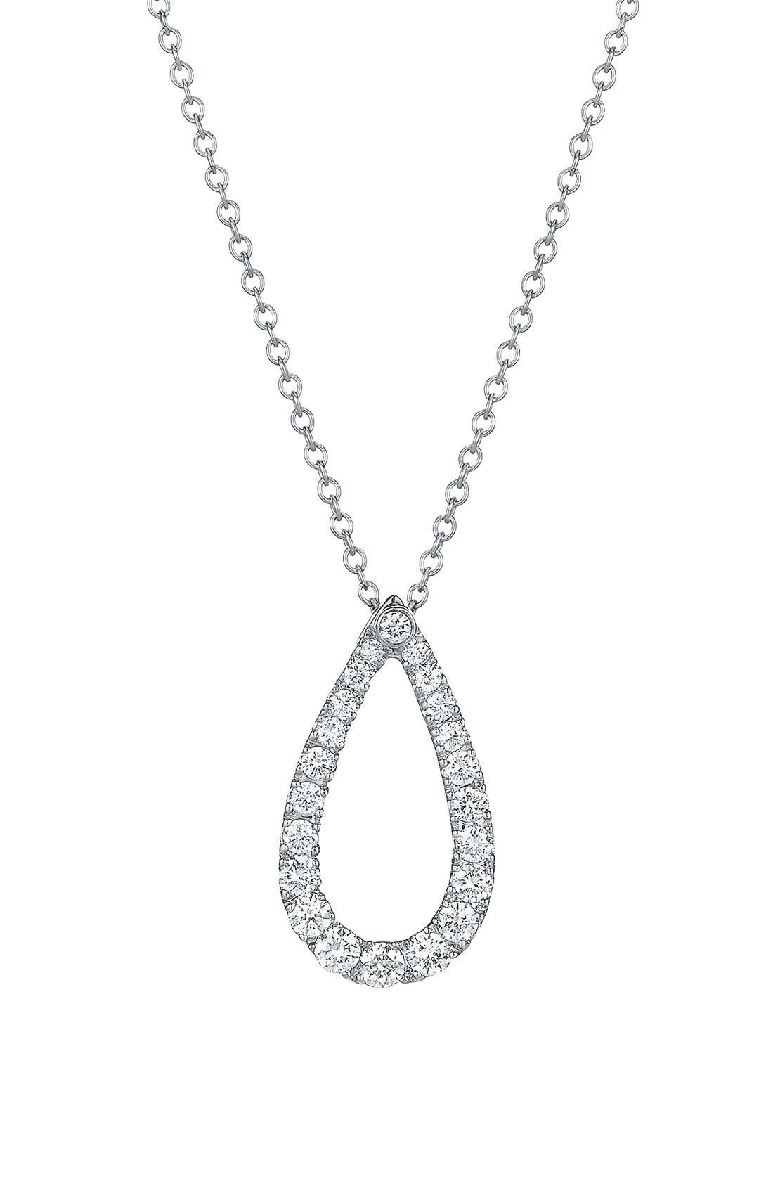 Main Image - Kwiat 'Contorno' Teardrop Diamond Pendant Necklace