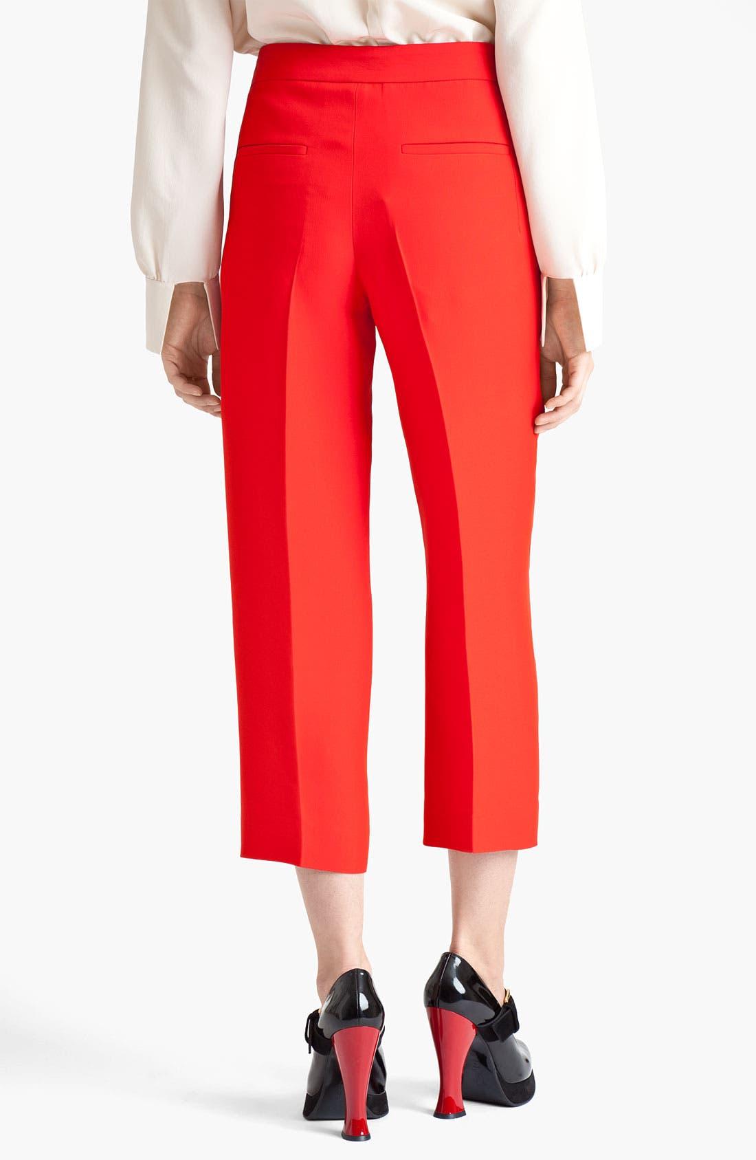 Alternate Image 2  - Marni Crop Straight Leg Organza Pants