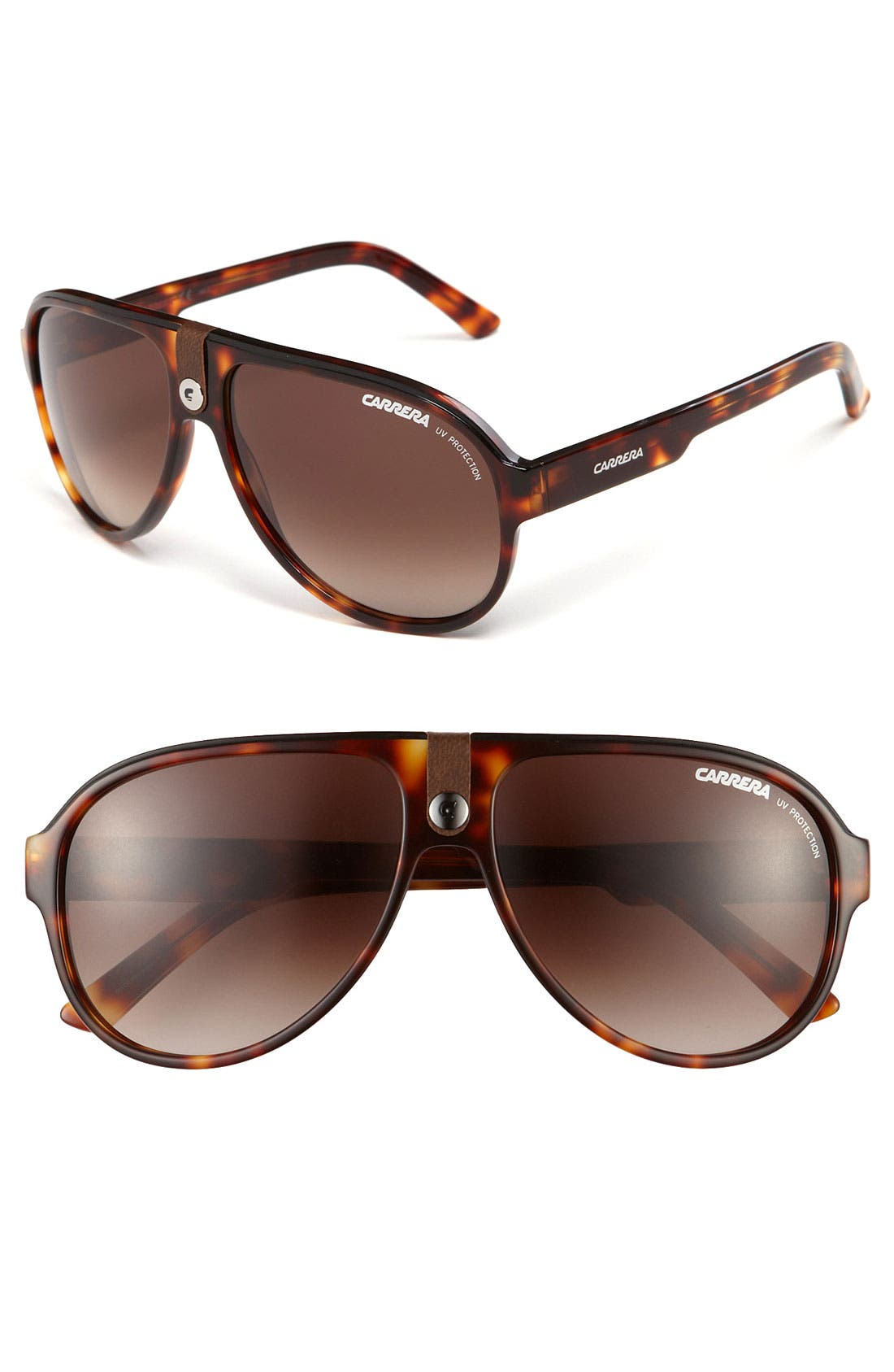Alternate Image 1 Selected - Carrera Eyewear 60mm Aviator Sunglasses