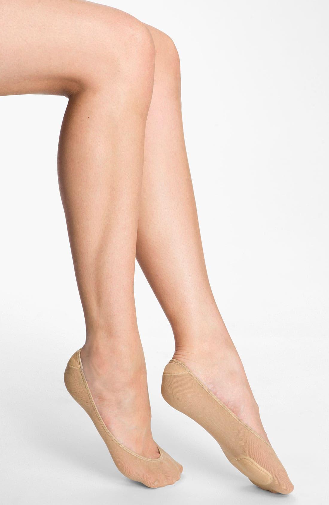 Alternate Image 1 Selected - Nordstrom Cushioned Liner Socks