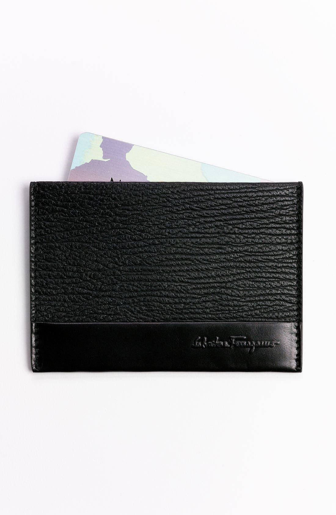 Alternate Image 1 Selected - Salvatore Ferragamo 'Alpha' Leather Card Case