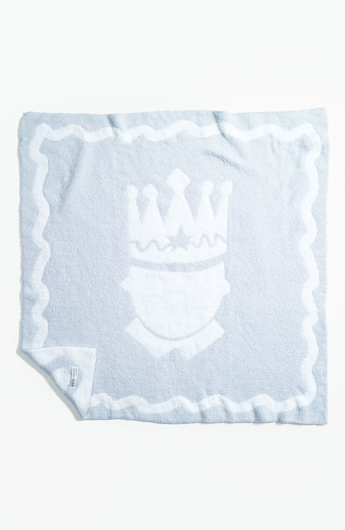 Alternate Image 1 Selected - Barefoot Dreams® 'Little Royals' Receiving Blanket