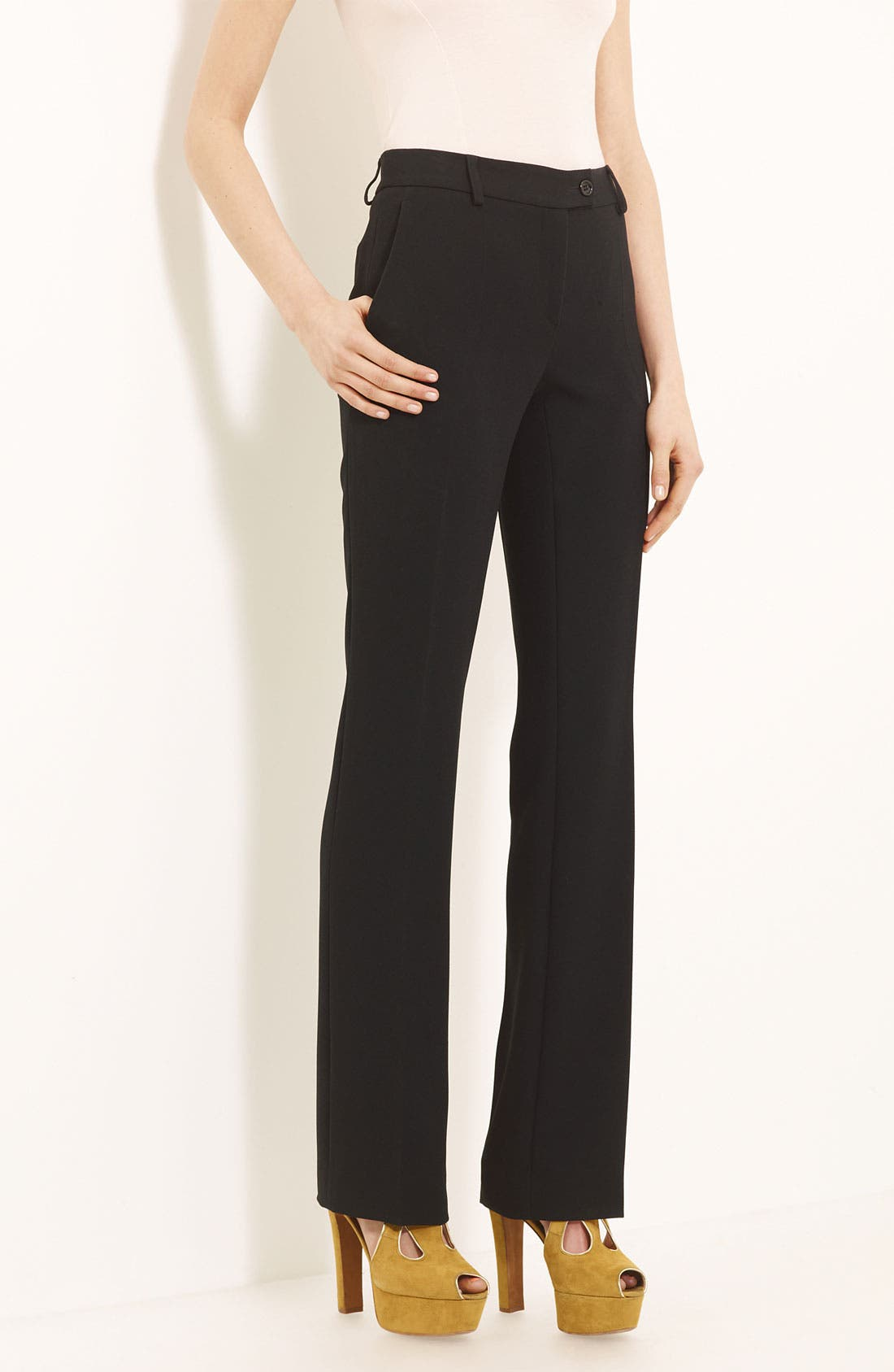 Alternate Image 1 Selected - Moschino Cheap & Chic Slim Crepe Trousers