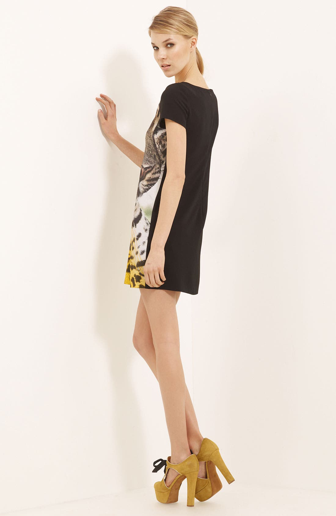 Alternate Image 2  - Moschino Cheap & Chic Cheetah Print Crepe Dress