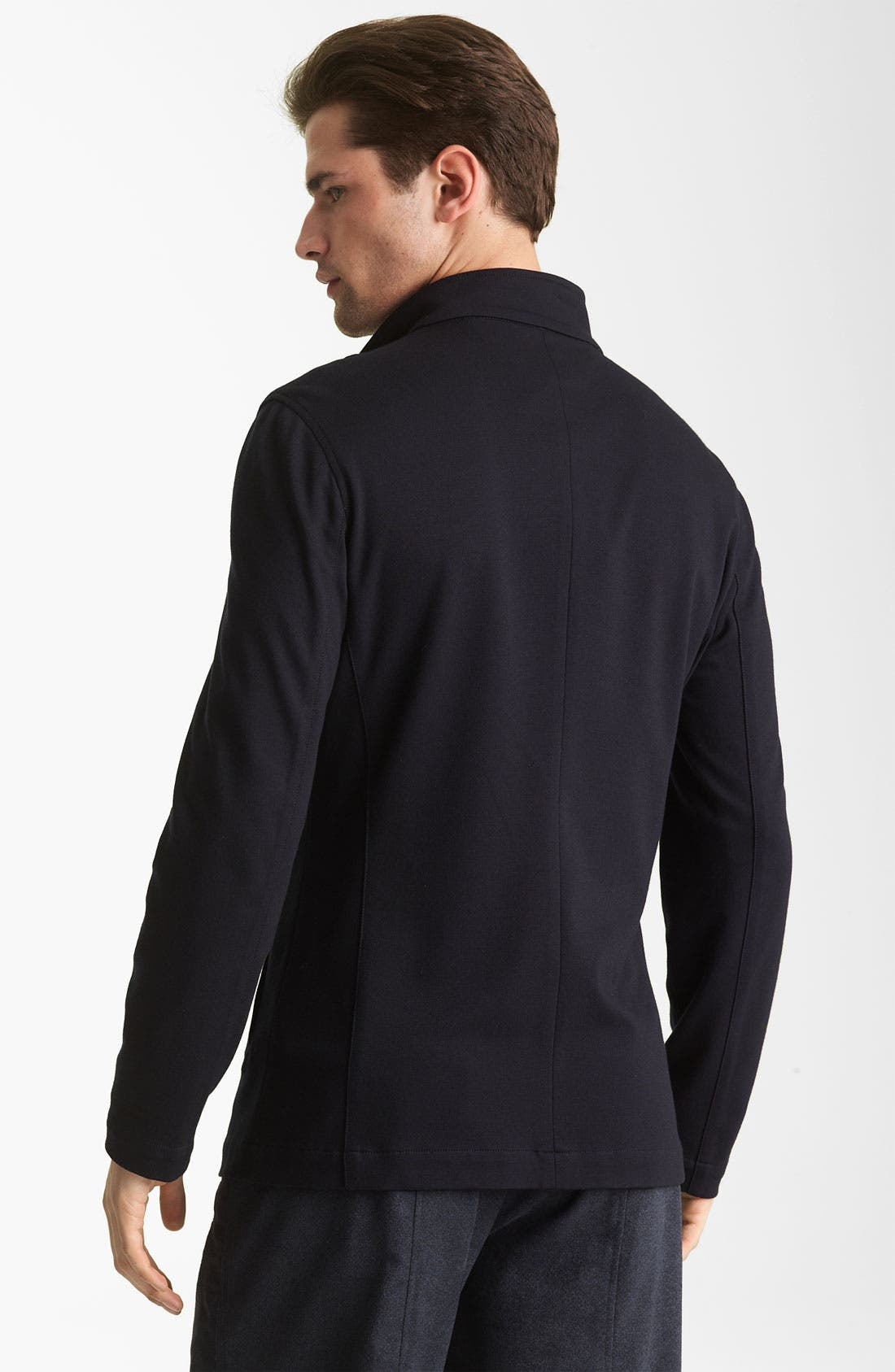 Alternate Image 2  - Armani Collezioni Jersey Knit Jacket