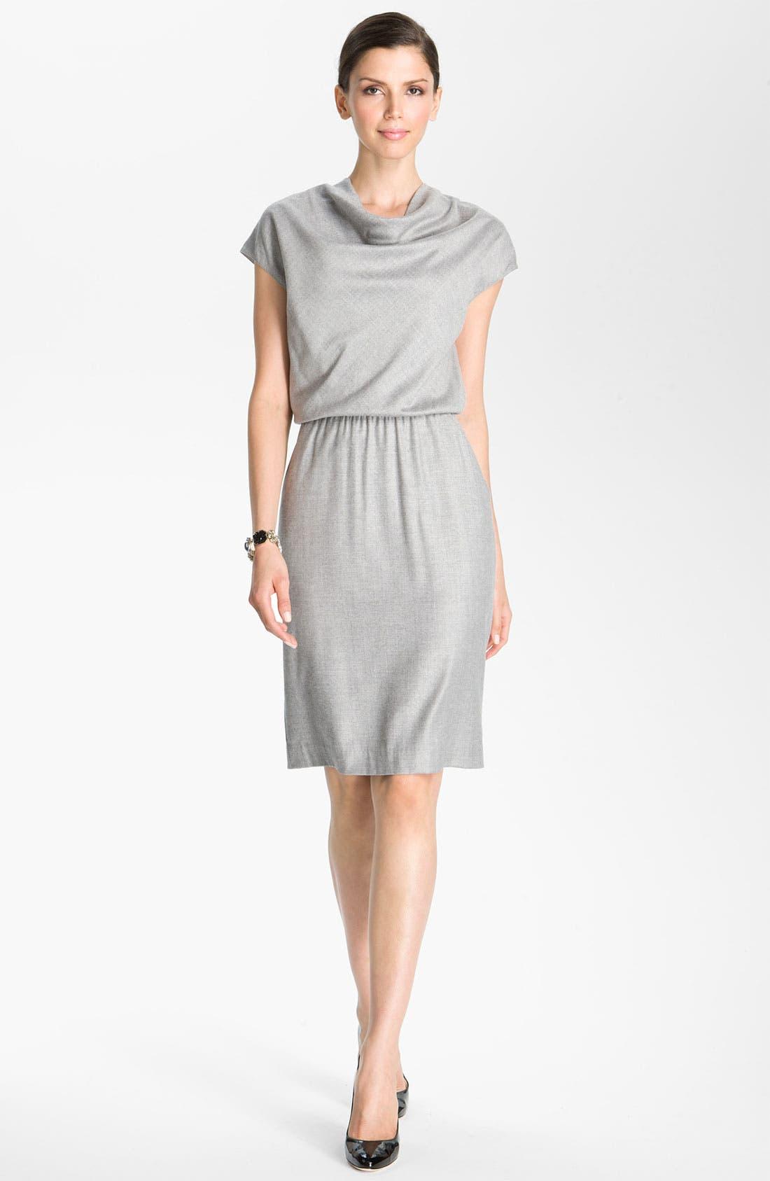 Alternate Image 1 Selected - St. John Collection Blouson Waist Flannel Dress