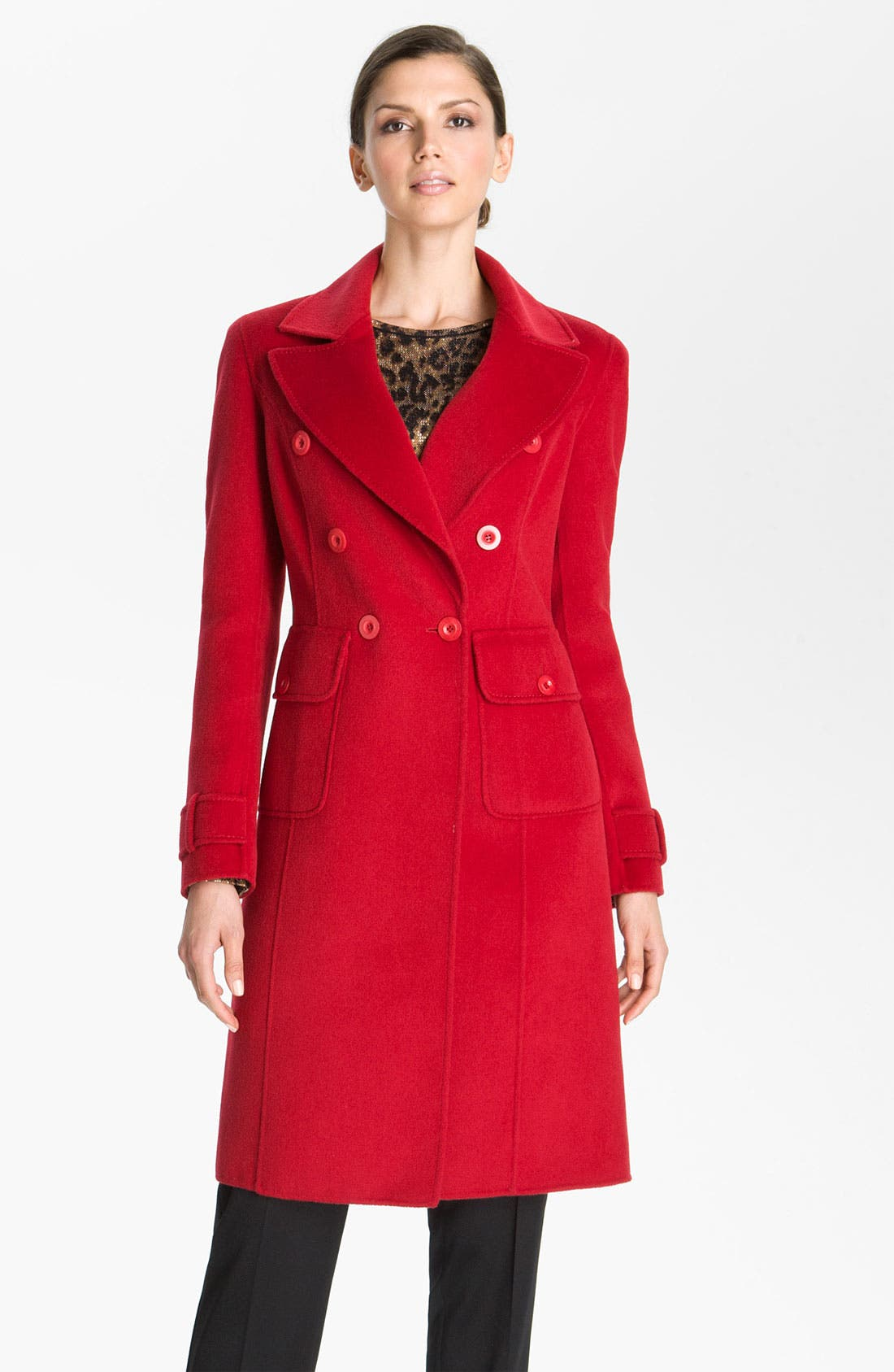 Alternate Image 2  - St. John Collection Angora Blend Coat