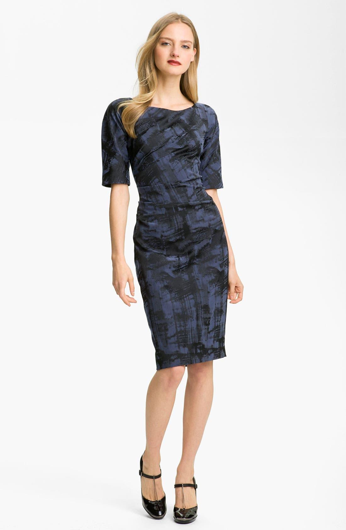Main Image - Lela Rose Side Ruched Dress