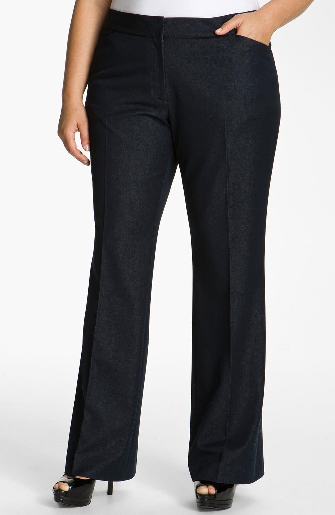 Alternate Image 1 Selected - Tahari Woman 'Wesley' Trousers (Plus)