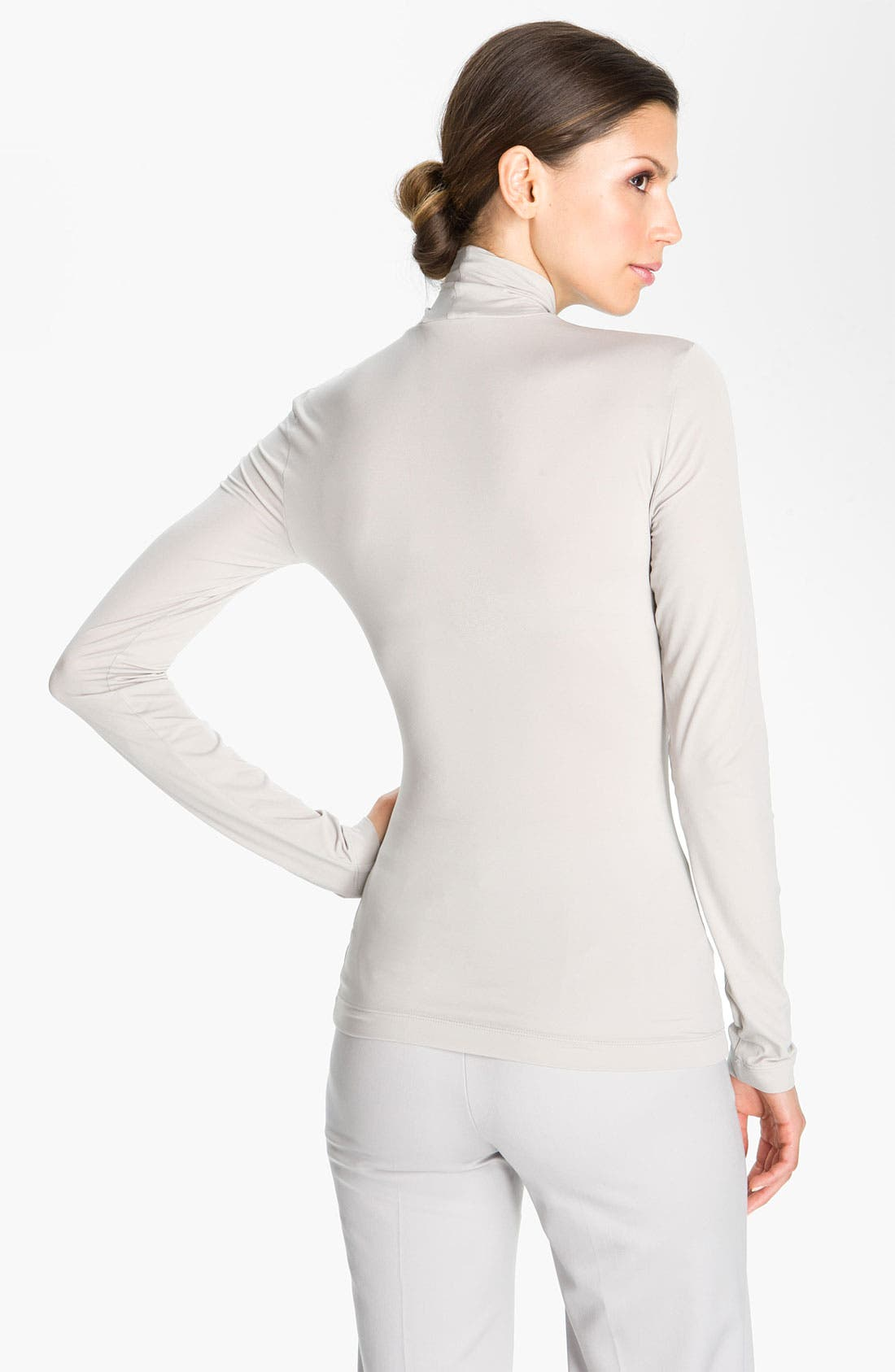 Alternate Image 3  - St. John Collection Modal Blend Jersey Turtleneck Shell