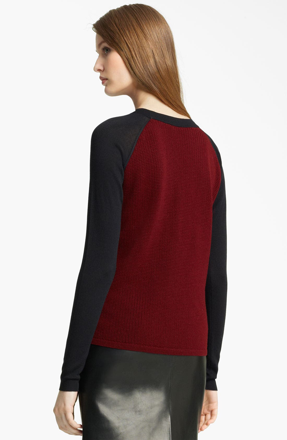 Alternate Image 2  - Reed Krakoff Merino Wool Thermal Pullover