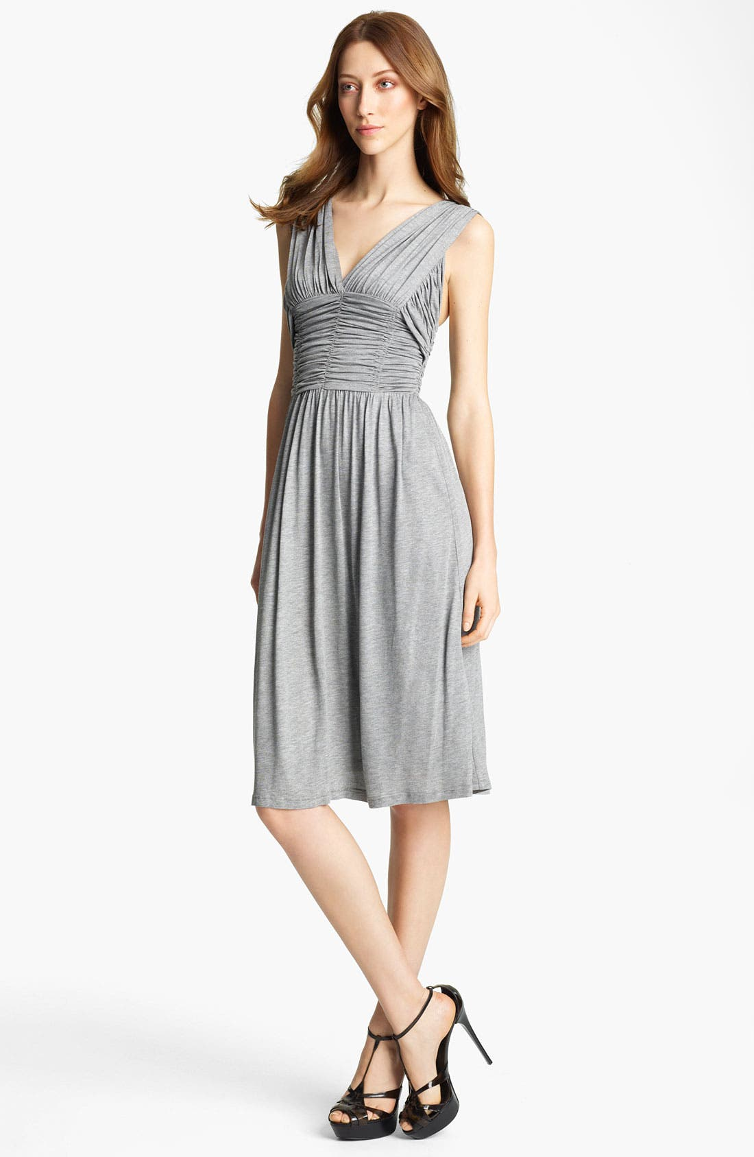 Main Image - Burberry London V-Neck Jersey Dress