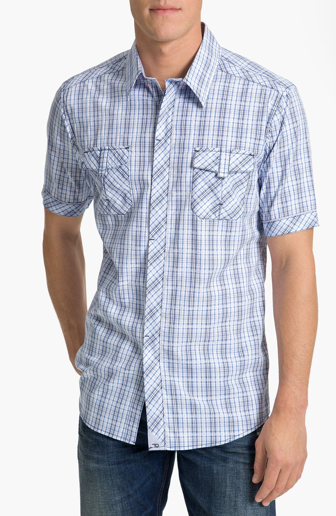 Alternate Image 1 Selected - 7 Diamonds 'Wonderful World' Plaid Woven Shirt