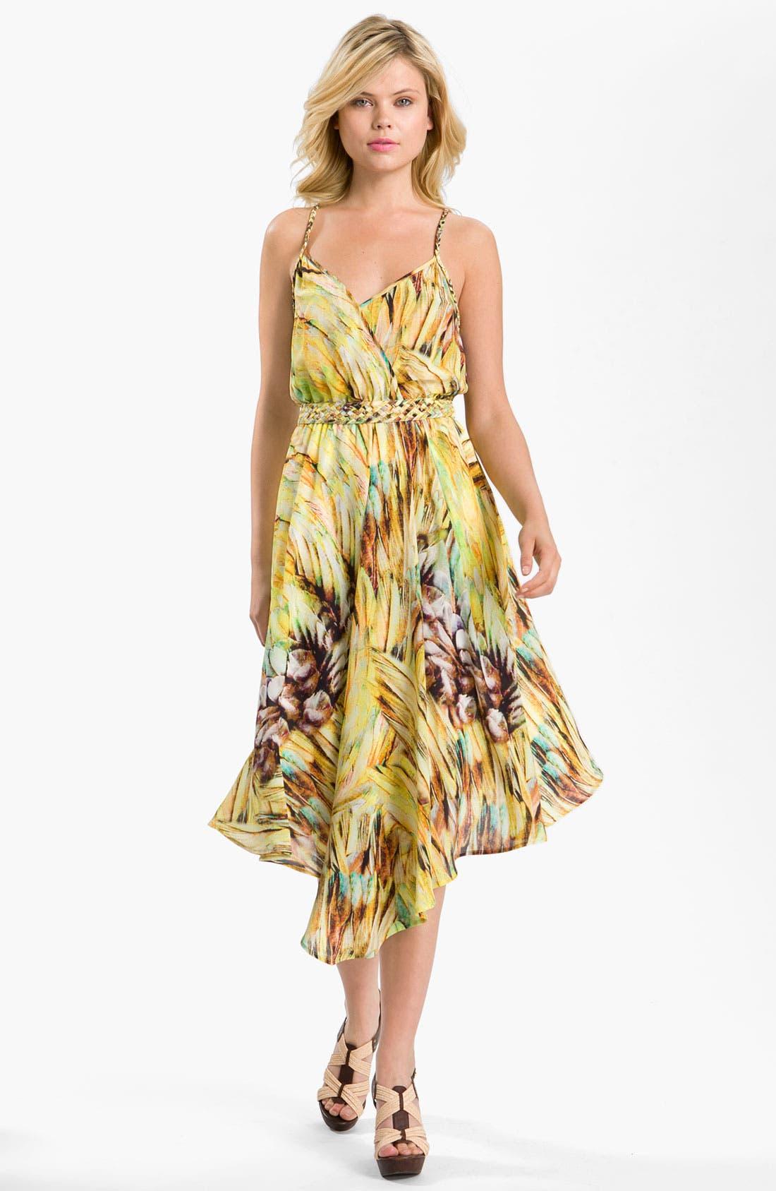 Main Image - Charlie Jade Silk Surplice Dress