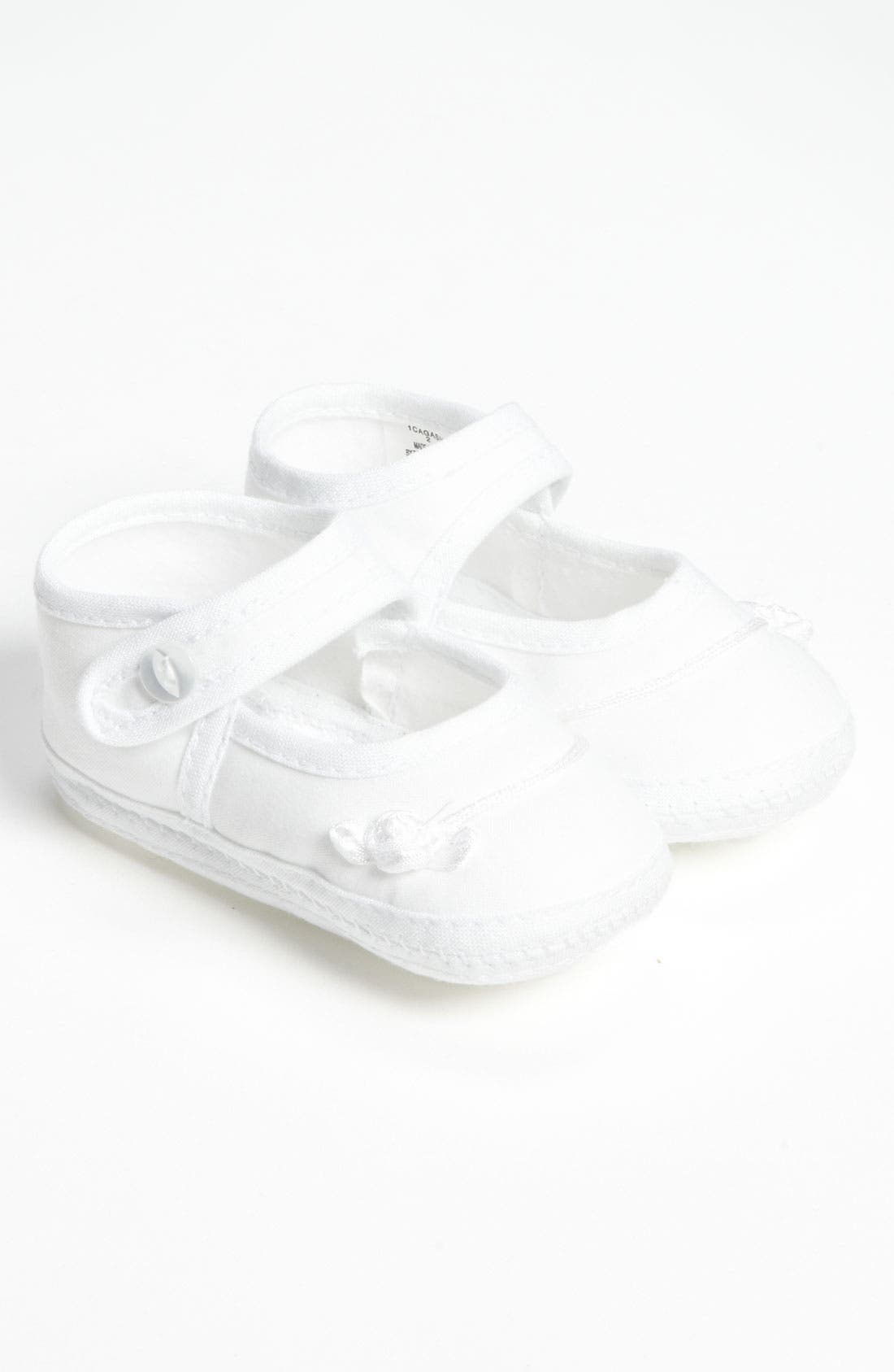 Main Image - Little Things Mean a Lot Cotton Batiste Shoe (Baby)
