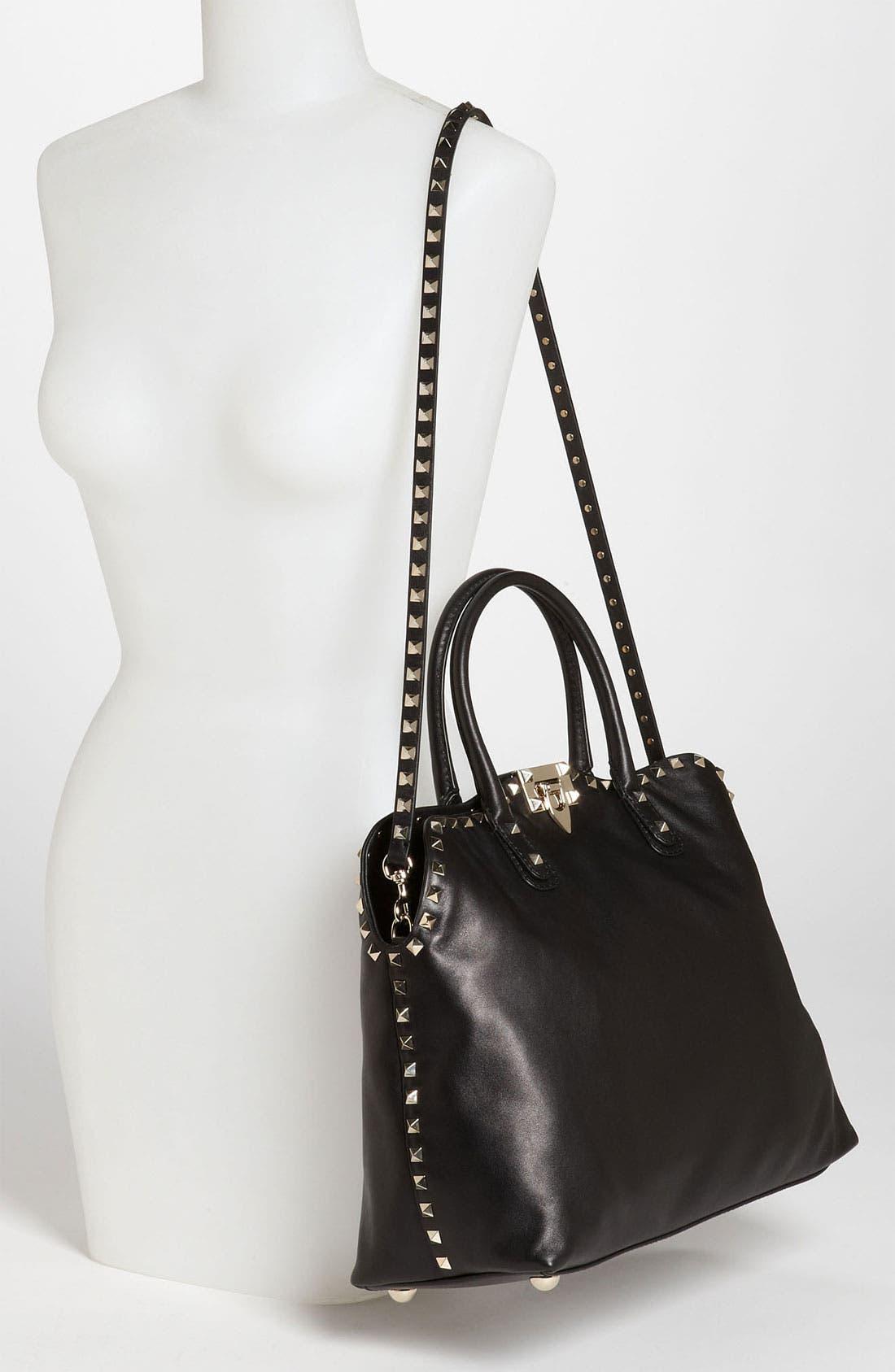 Alternate Image 2  - Valentino 'Rockstud' Leather Dome Handbag