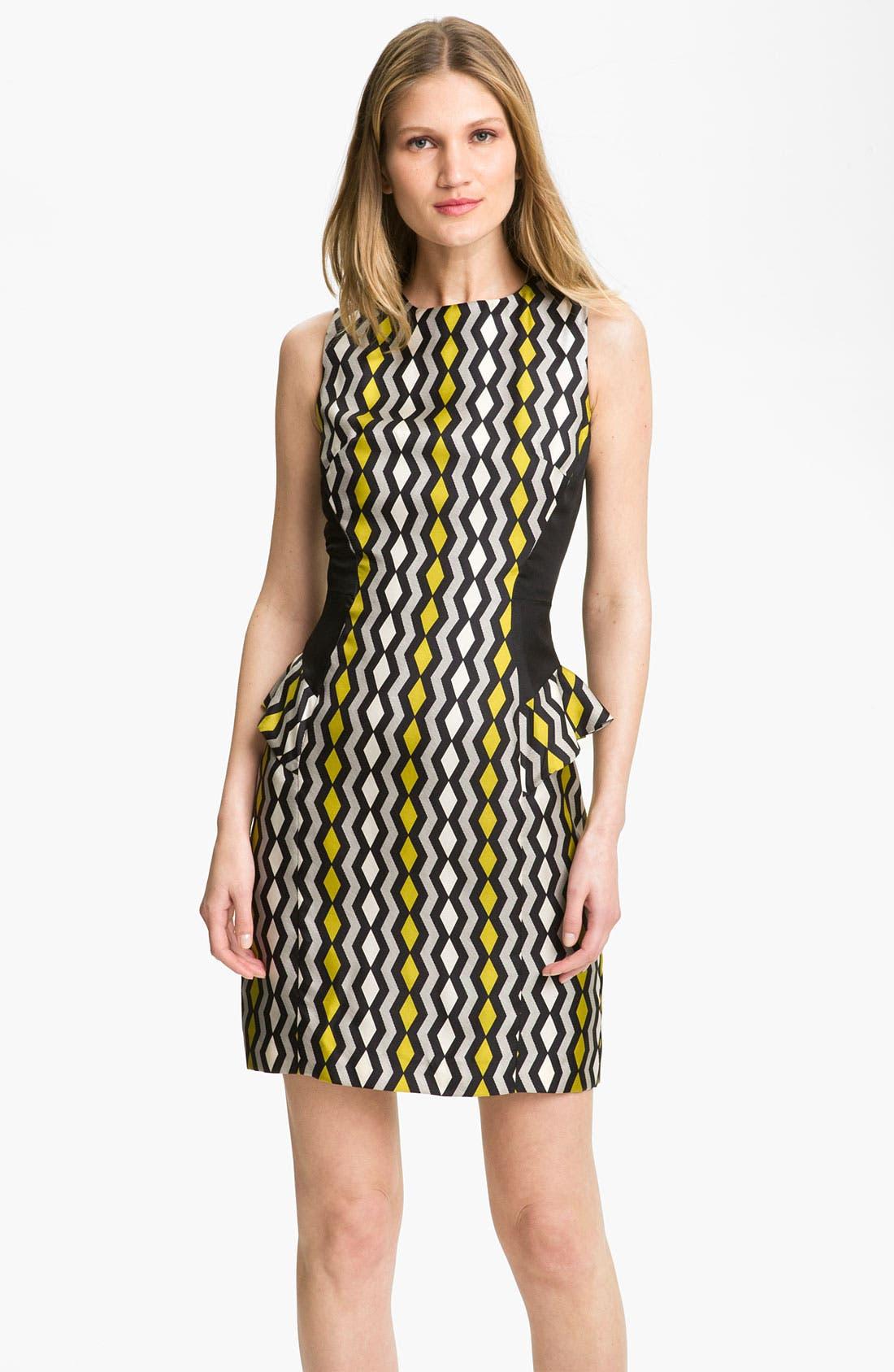 Main Image - Milly 'Viola' Geo Print Peplum Dress