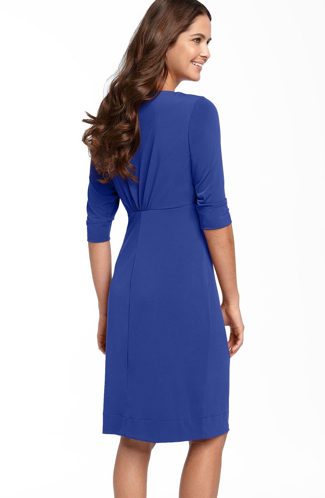 Alternate Image 2  - Donna Ricco Ruffle Matte Jersey Dress