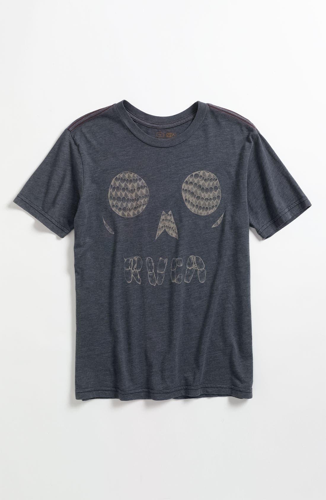 Alternate Image 1 Selected - RVCA 'Skull Face' T-Shirt (Big Boys)