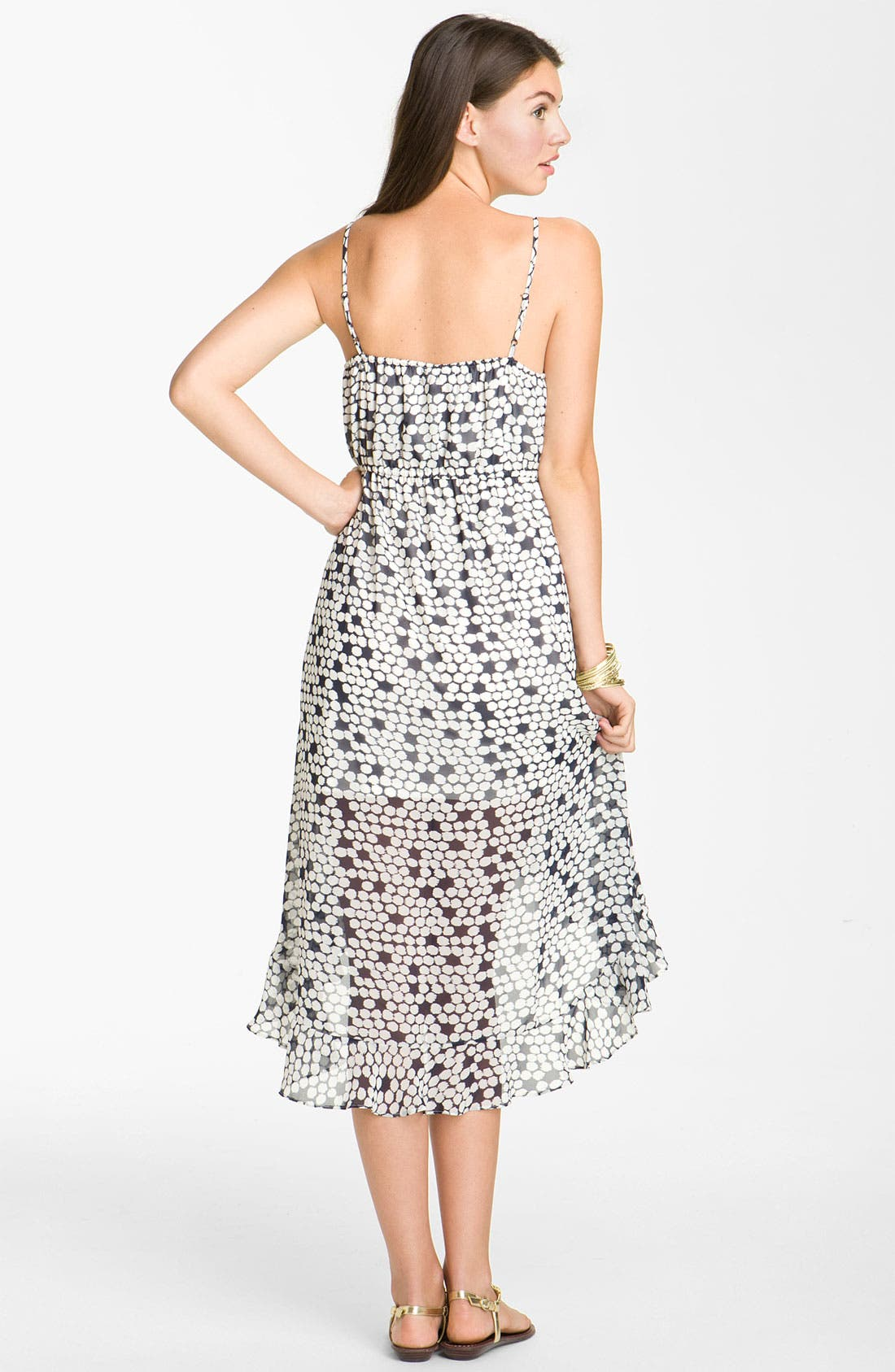 Alternate Image 2  - Leola Couture Chiffon Midi Dress