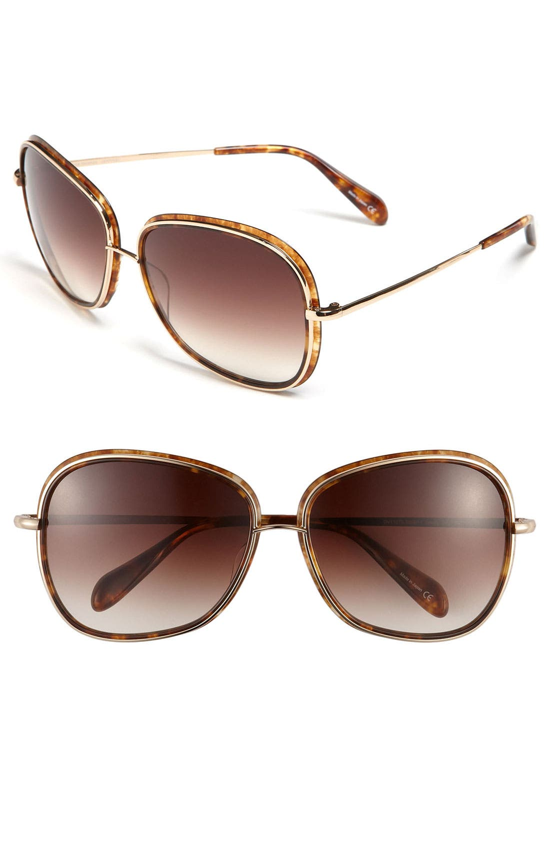 Alternate Image 1 Selected - Oliver Peoples 60mm Oversized Sunglasses