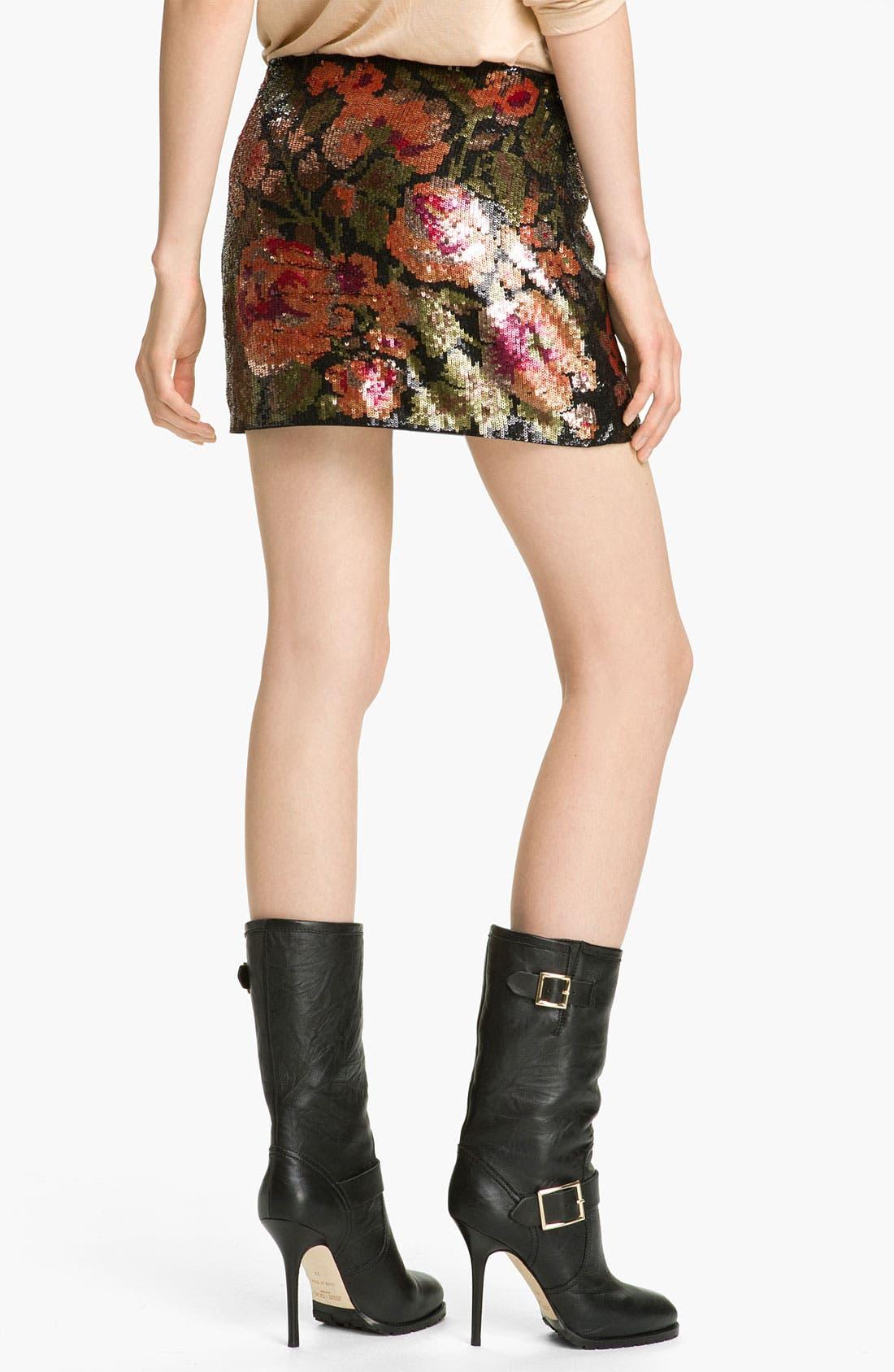 Alternate Image 2  - Haute Hippie Floral Sequin Miniskirt