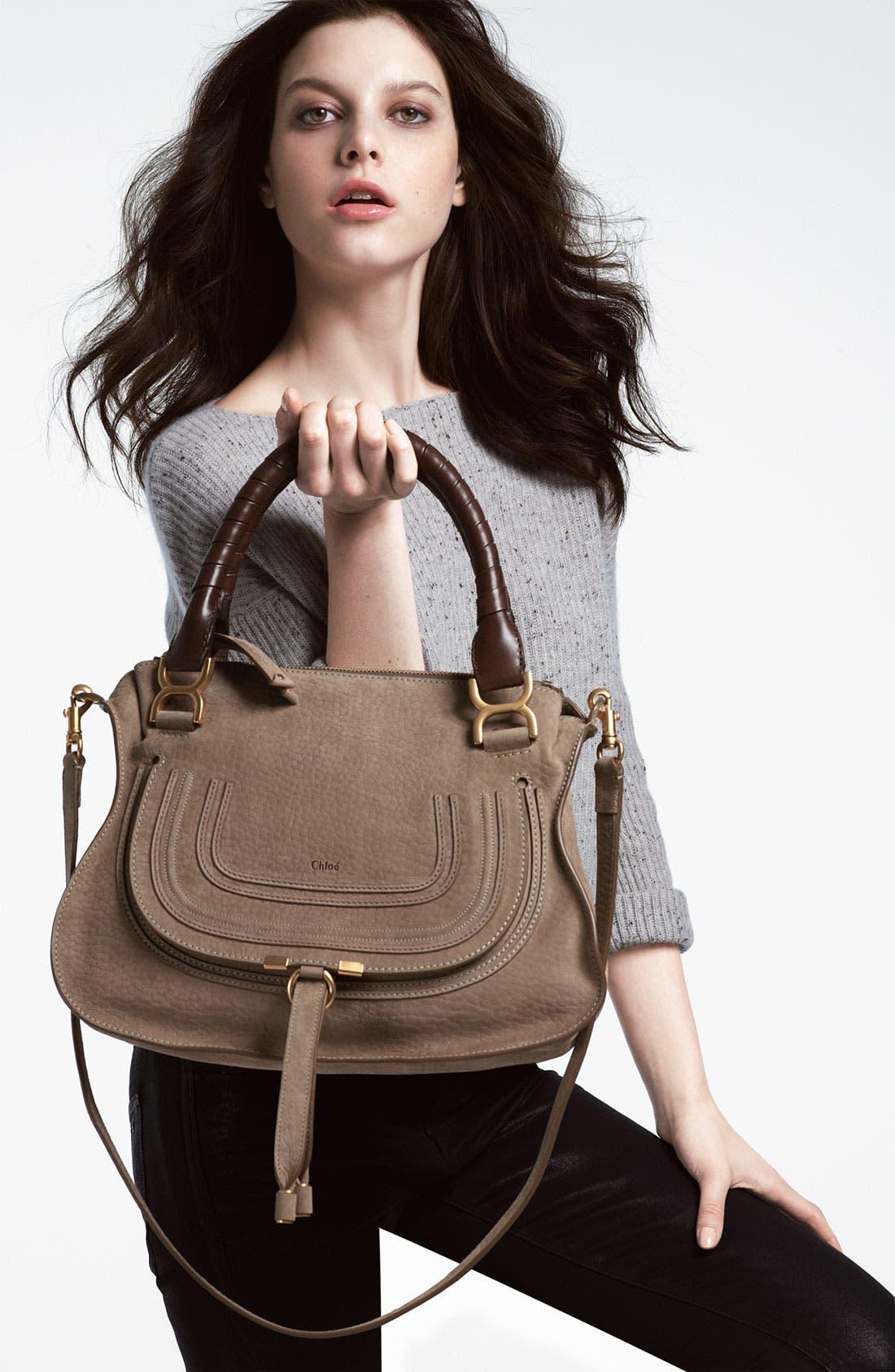 Alternate Image 5  - Chloé 'Marcie -Small' Nubuck Leather Shoulder Bag